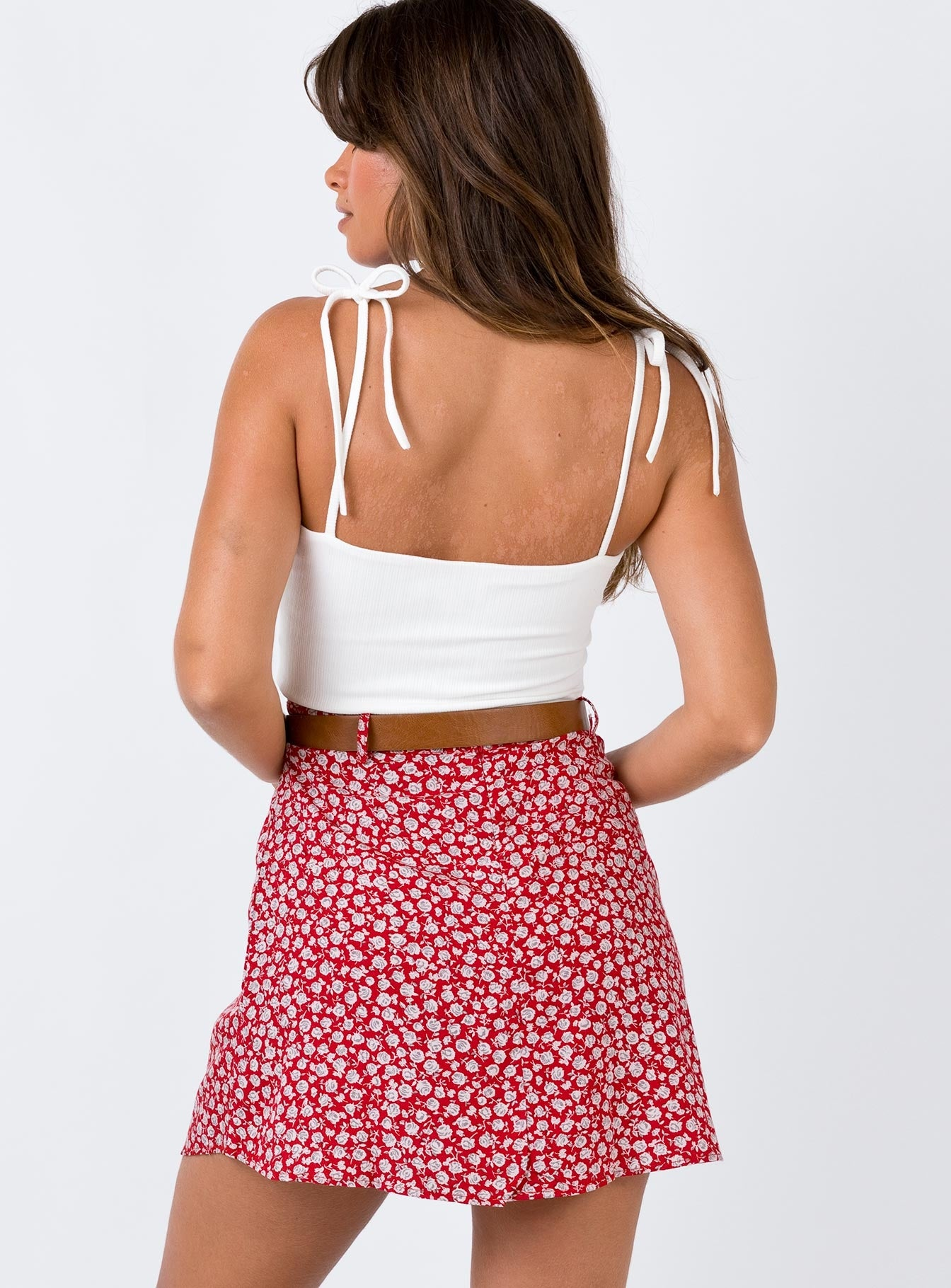Motel Kheb Skirt Red Print