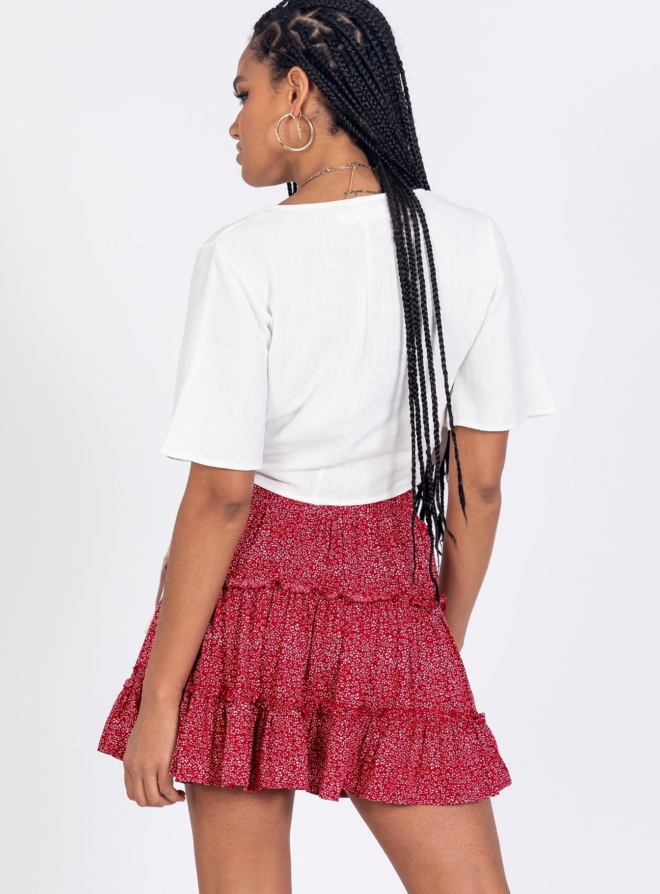 Hanson Mini Skirt Maroon