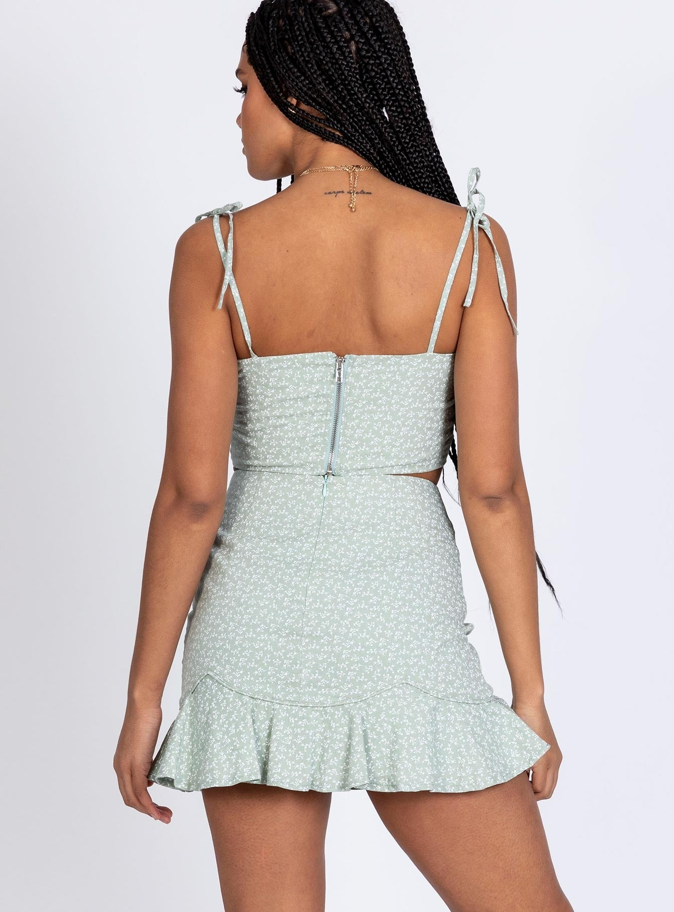 Lepko Mini Skirt Mint