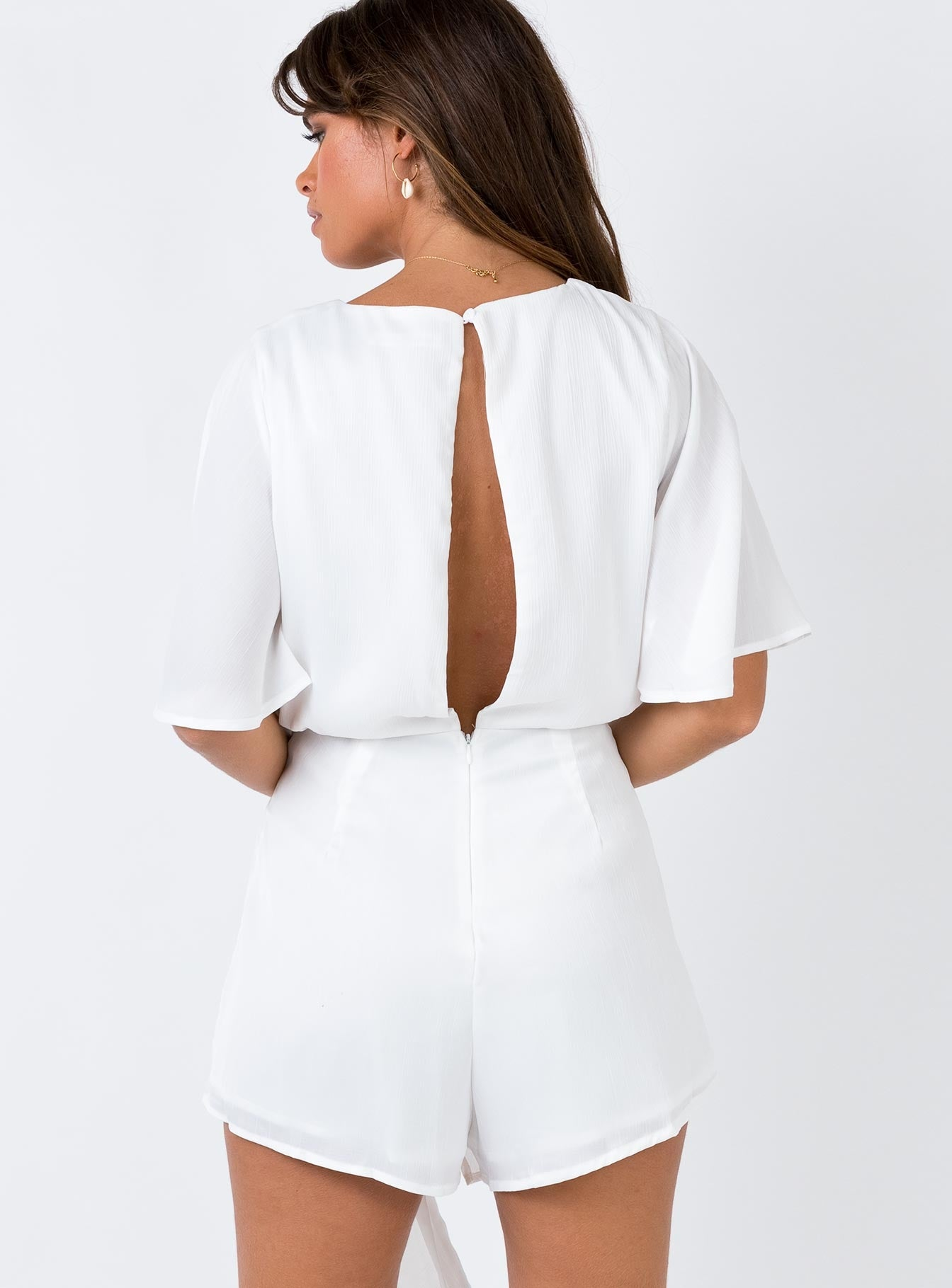 The Saved Playsuit White