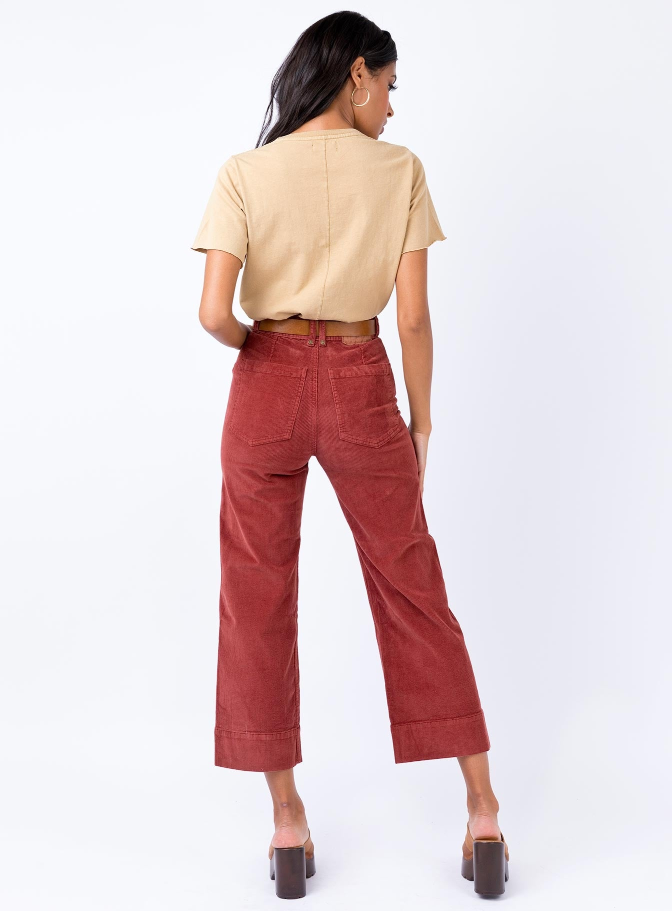 Thrills Belle Cord Pant Blood Red Dark Red