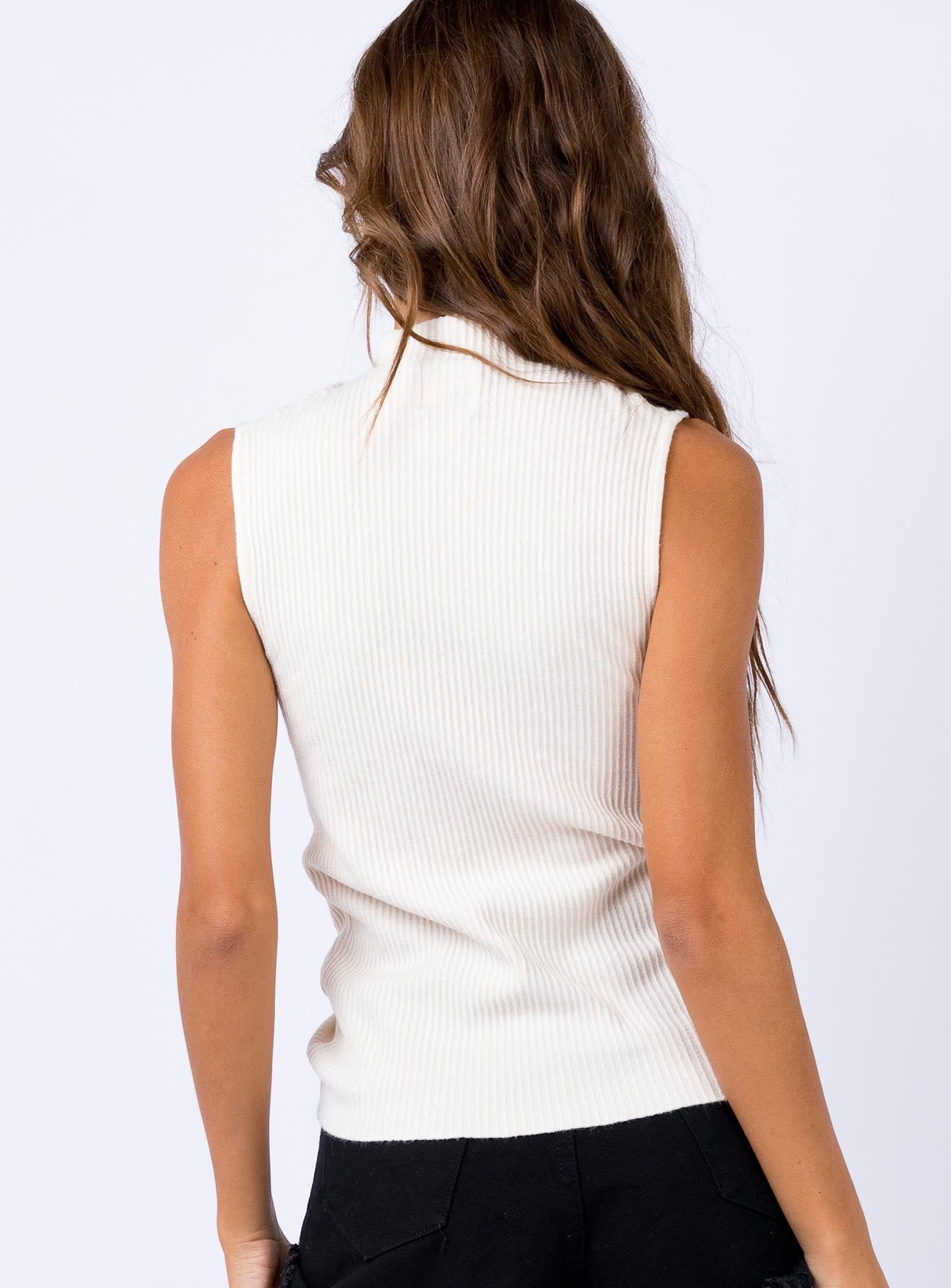 Leonti Knit Top Cream