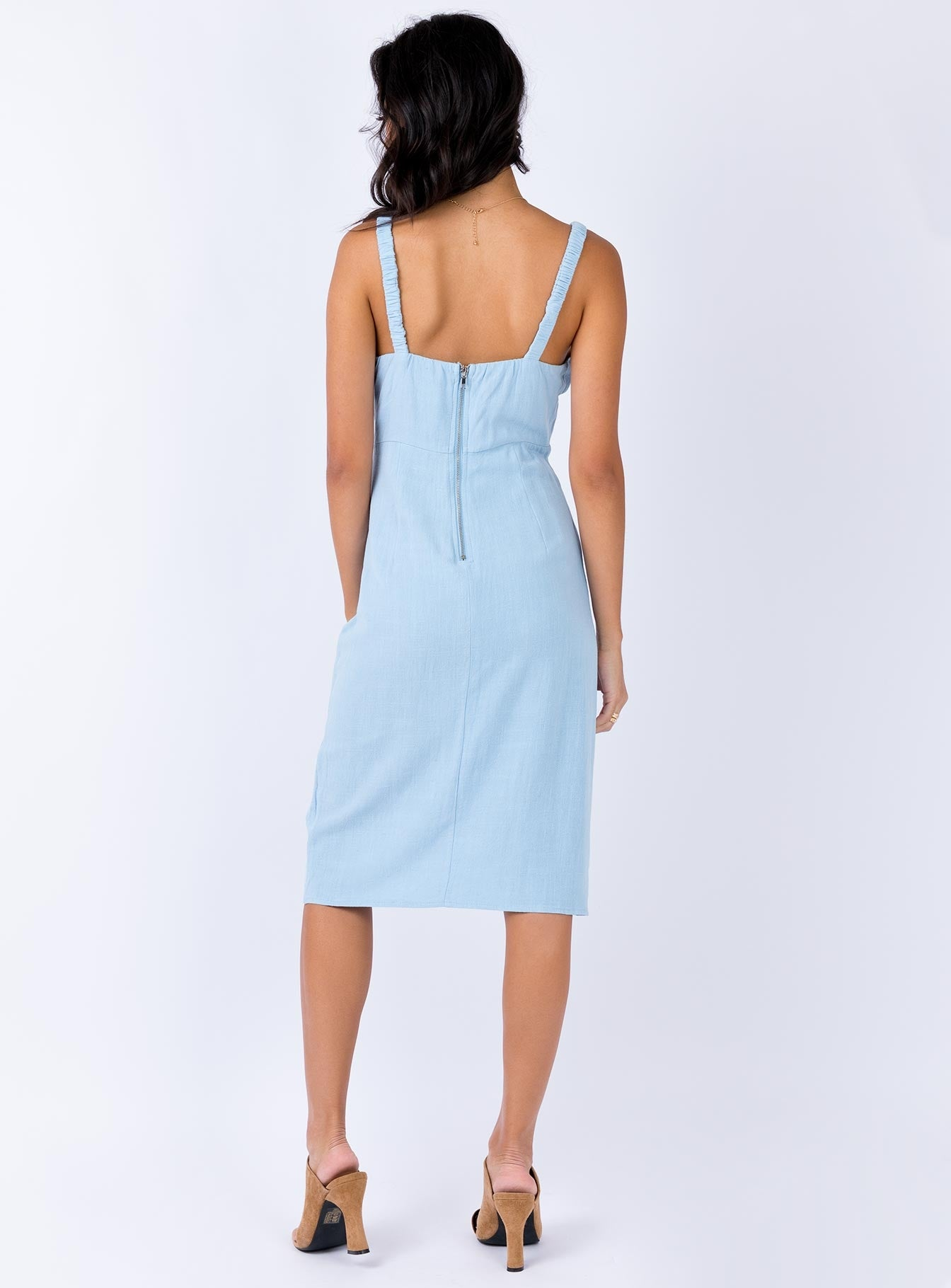 Clairo Midi Dress Baby Blue