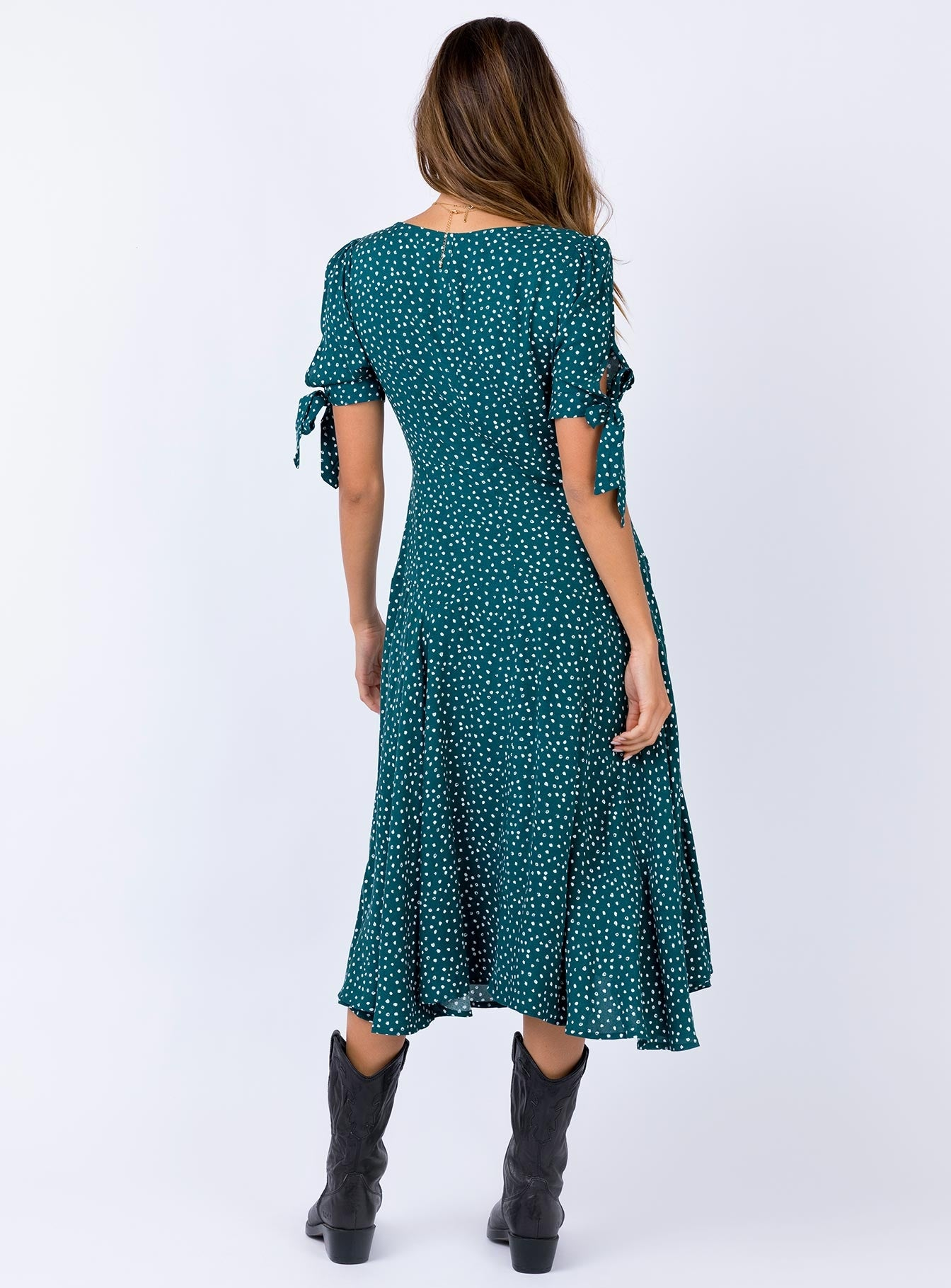 Marna Midi Dress Forest Green