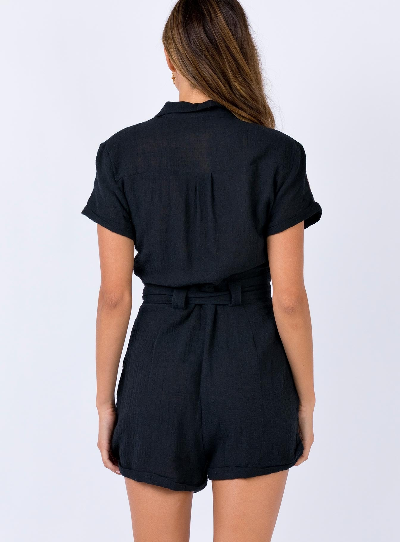 Ashens Playsuit Black