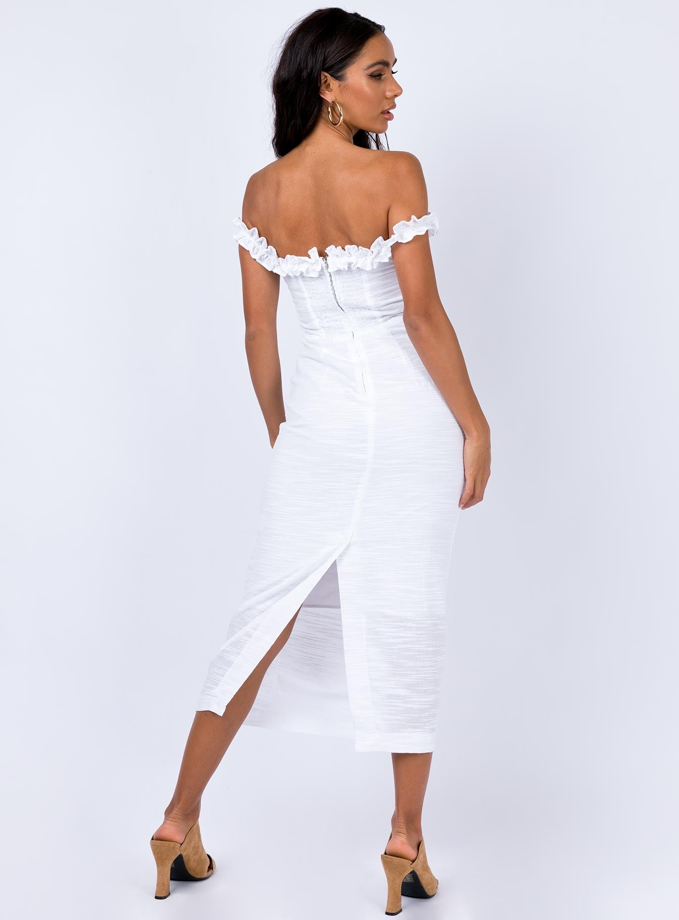 Darya Midi Dress White