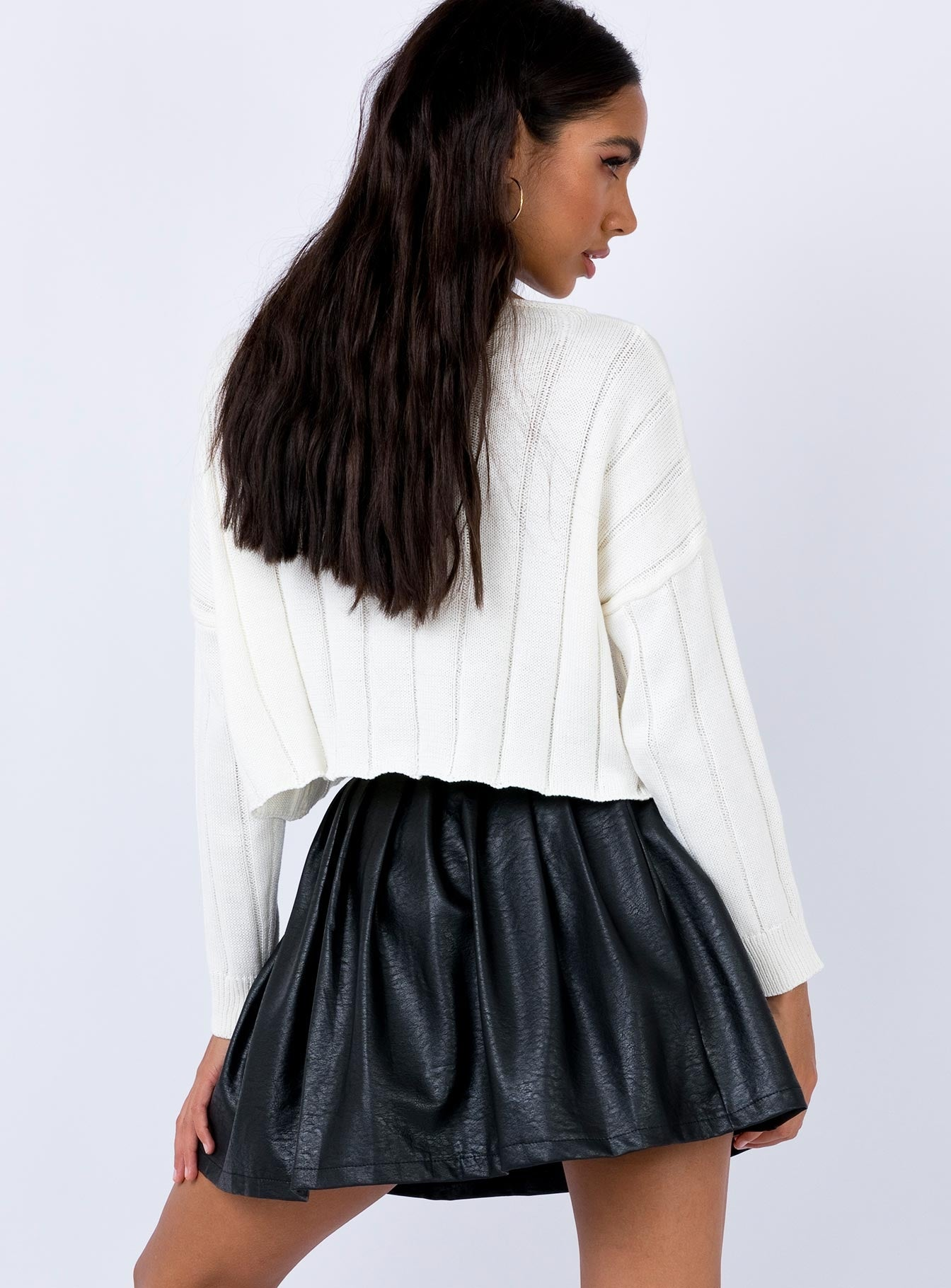 High Life Pleat Skirt Black