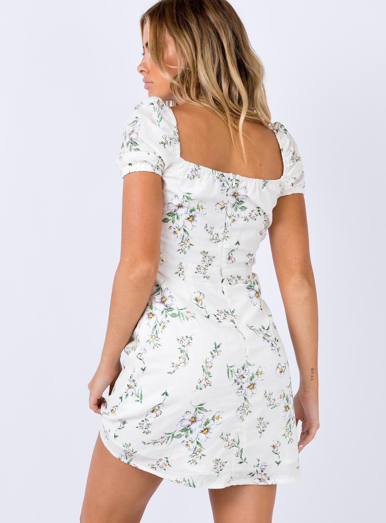 Nelly Mini Dress White Floral