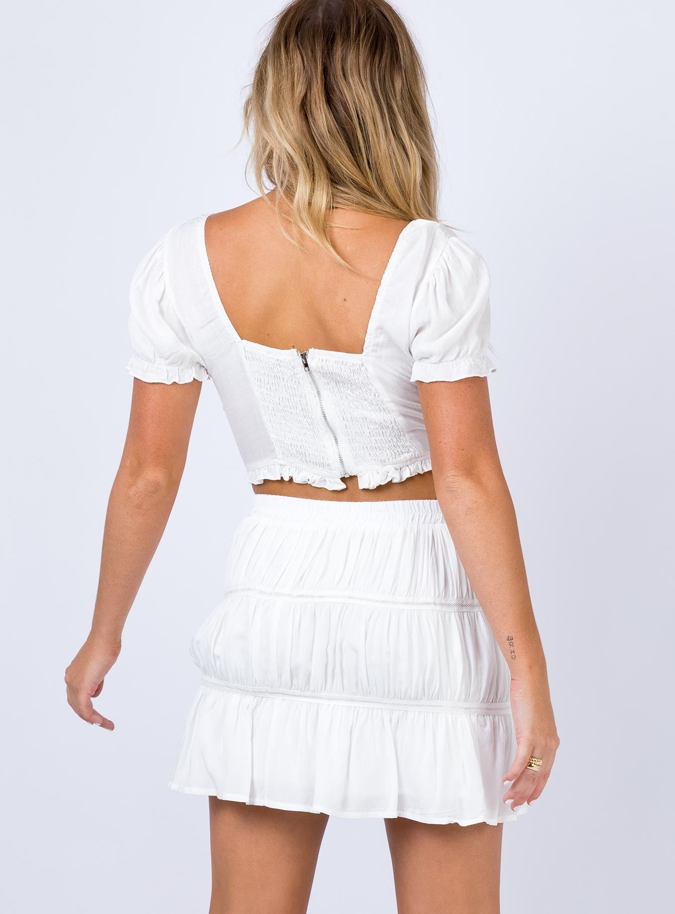 Mertens Mini Skirt White
