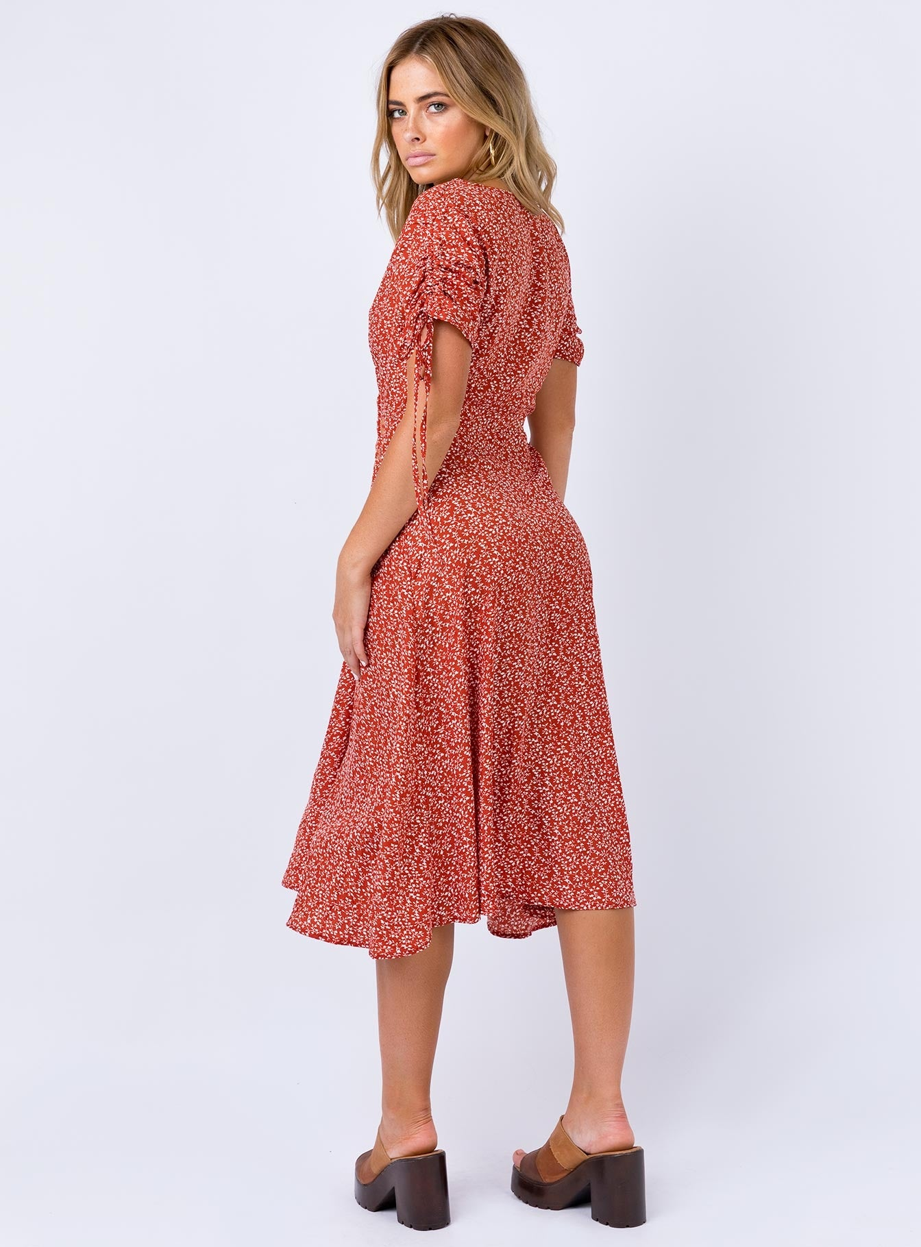 Milford Midi Dress Red Print