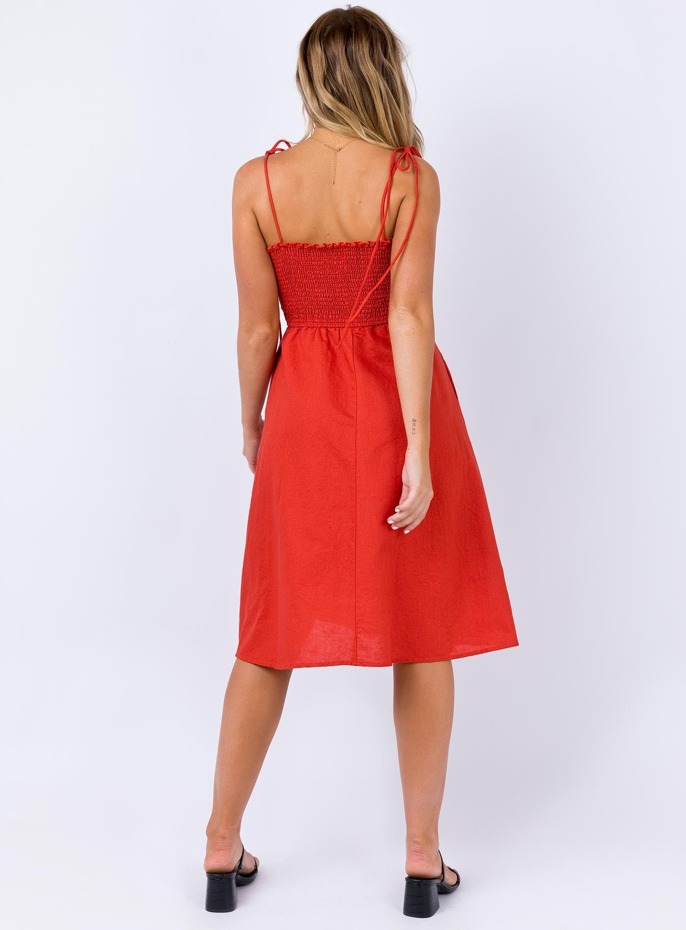 Adella Midi Dress Red