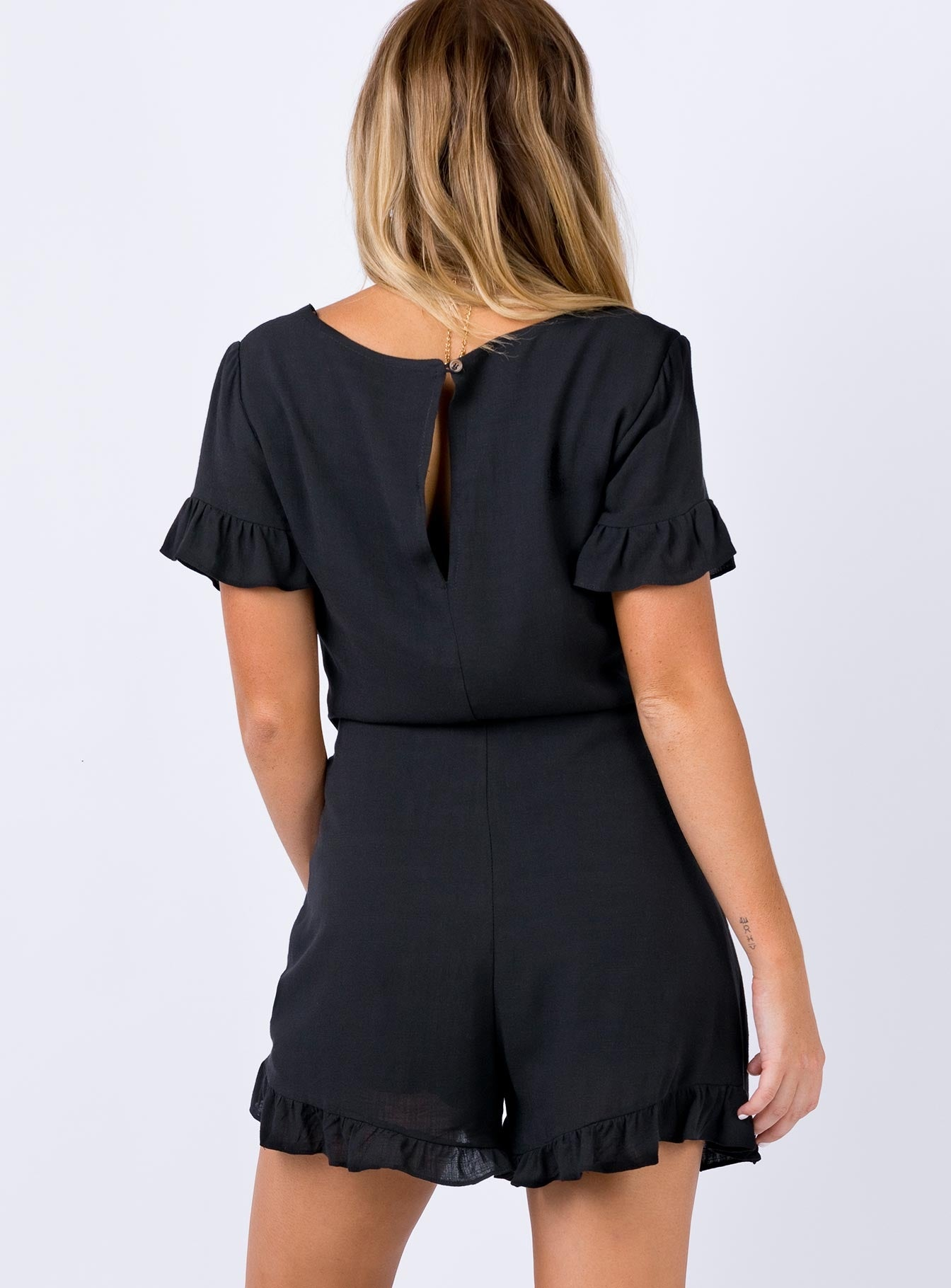 Caney Playsuit Black