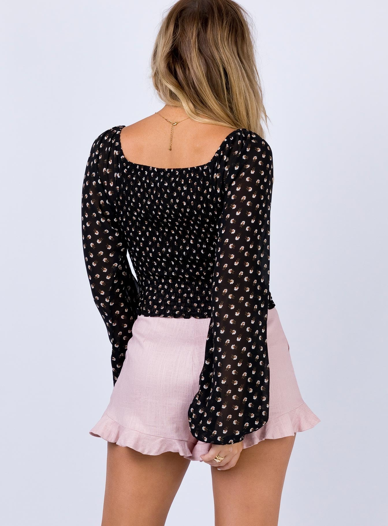Short Lane Top Black