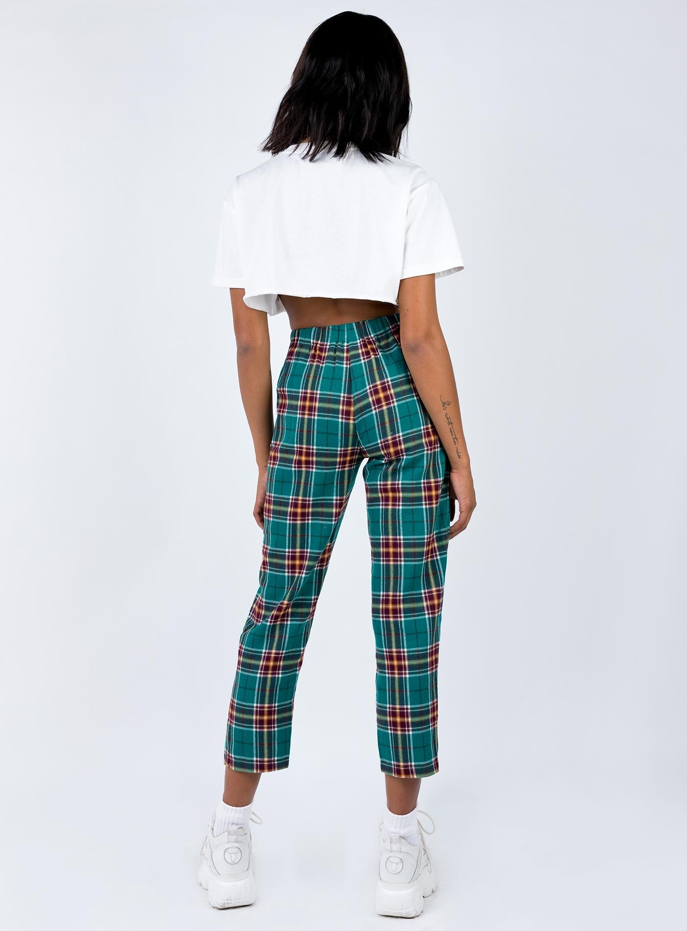 De Soul Pants Green Check