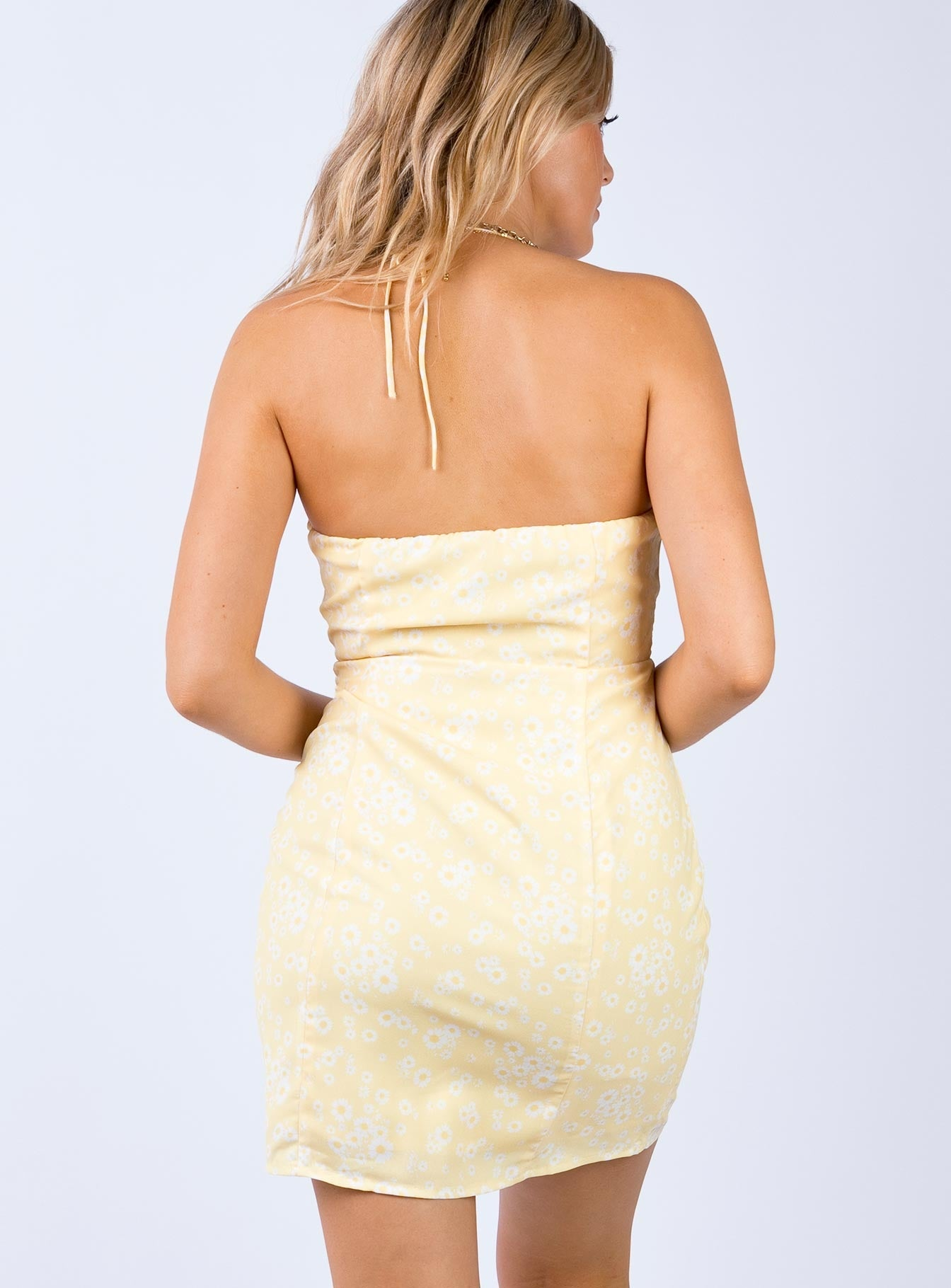 Akron Mini Dress Yellow