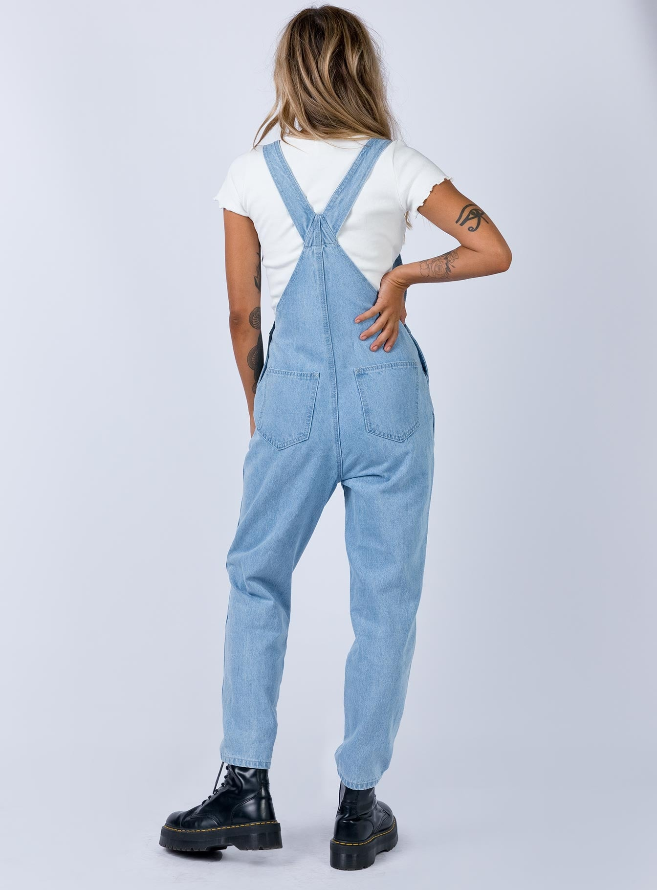 Archer Overalls Light Wash Denim