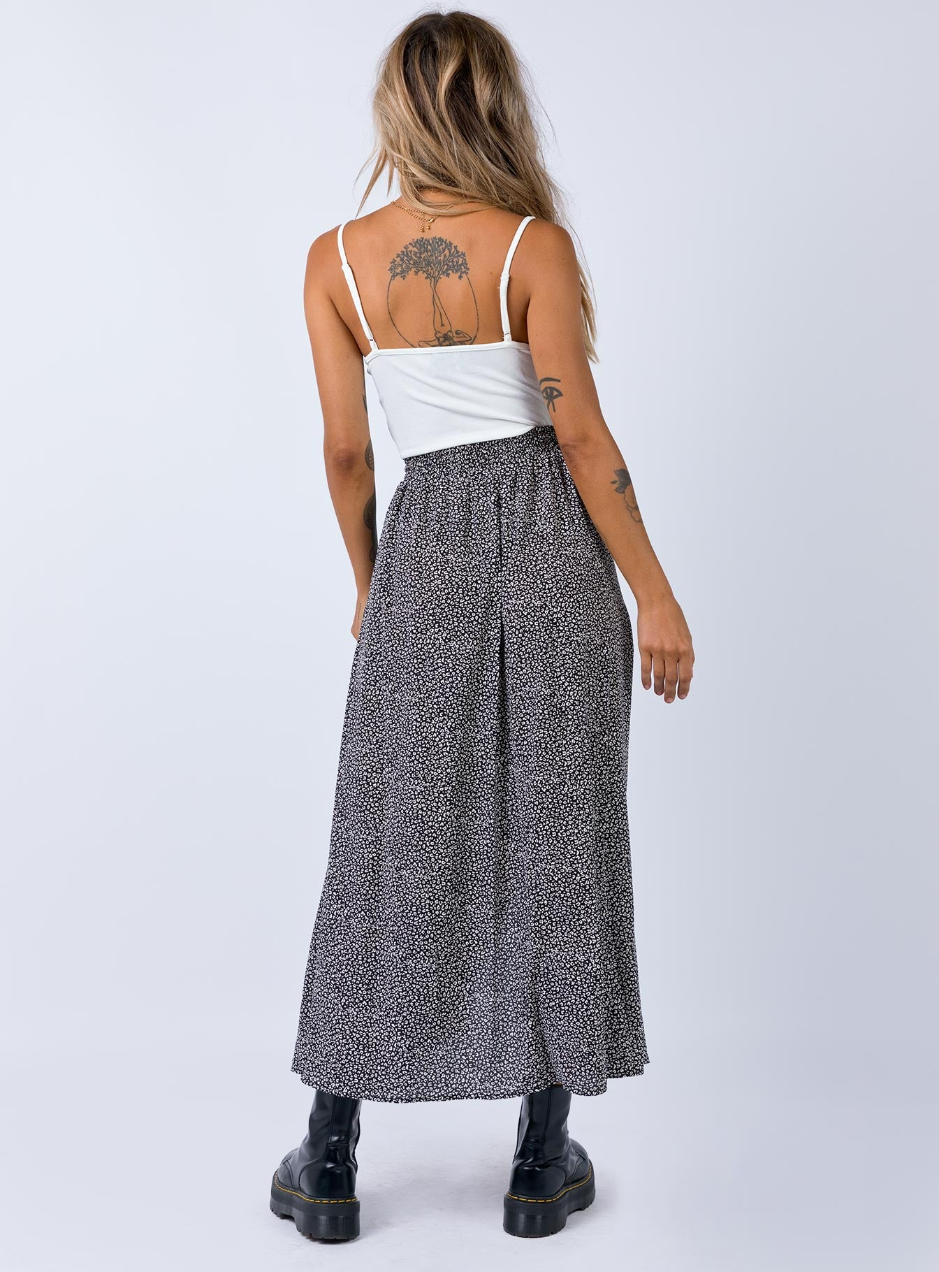 Cool Blues Maxi Skirt