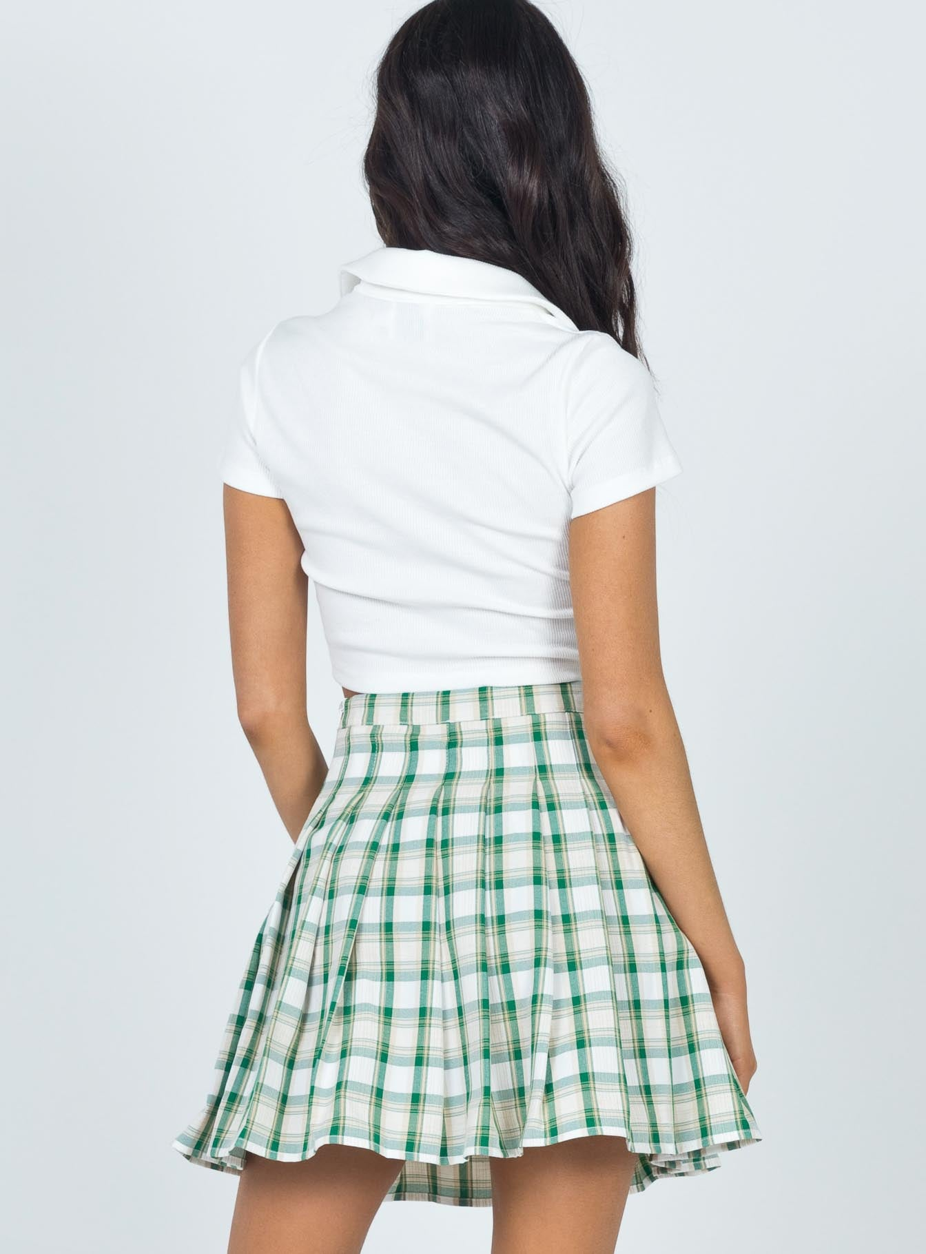 Mason Mini Skirt Green