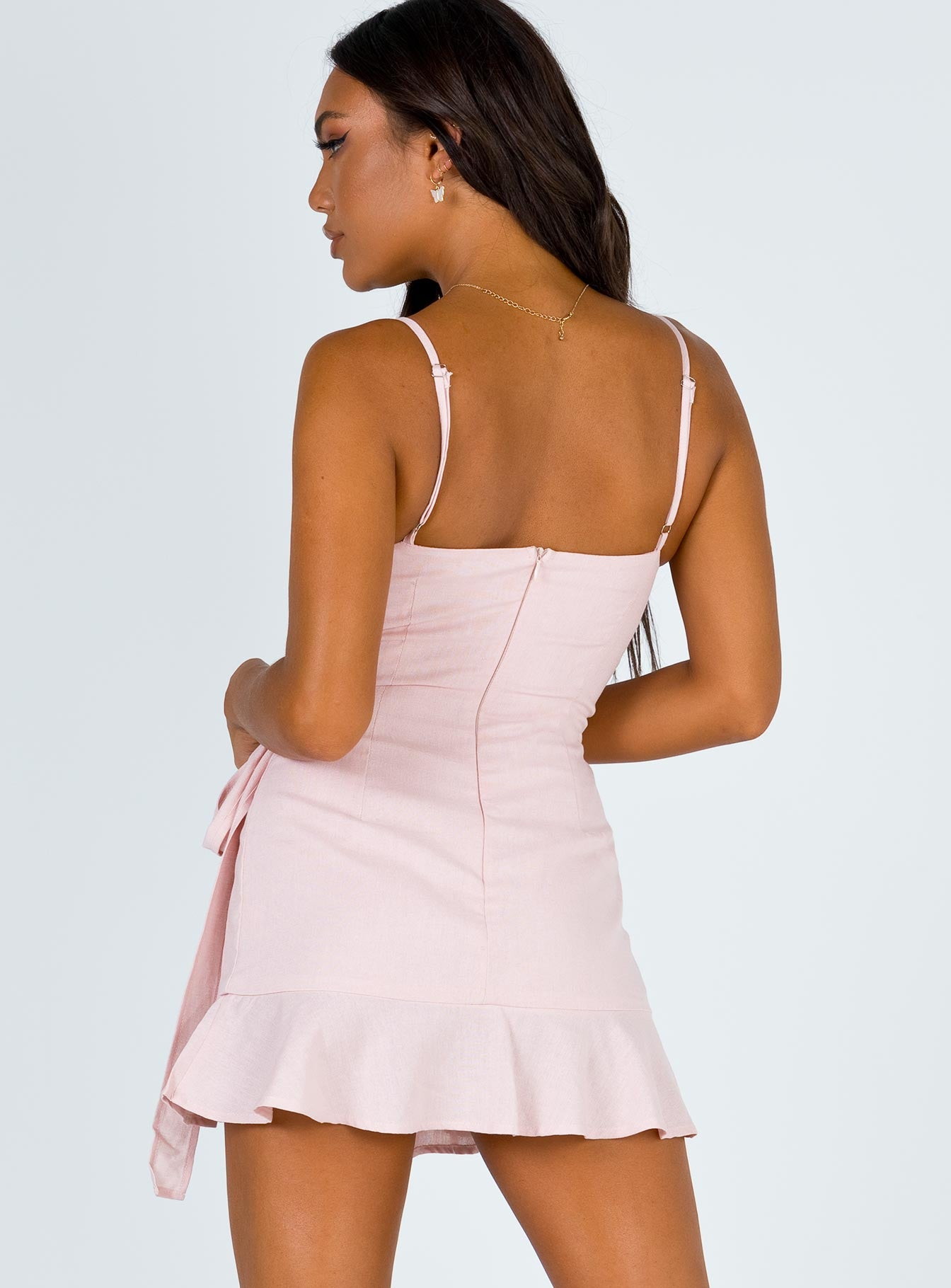 Cottage Hill Mini Dress Blush