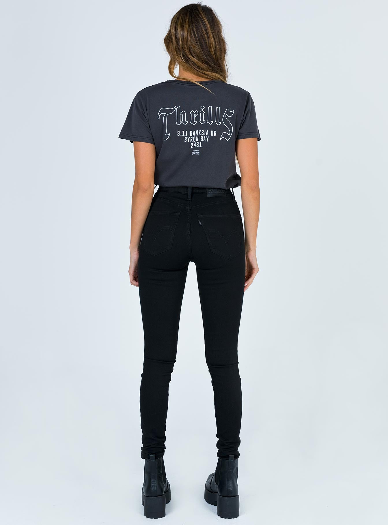 Levi's Mile High Super Skinny Black Celestial Jeans