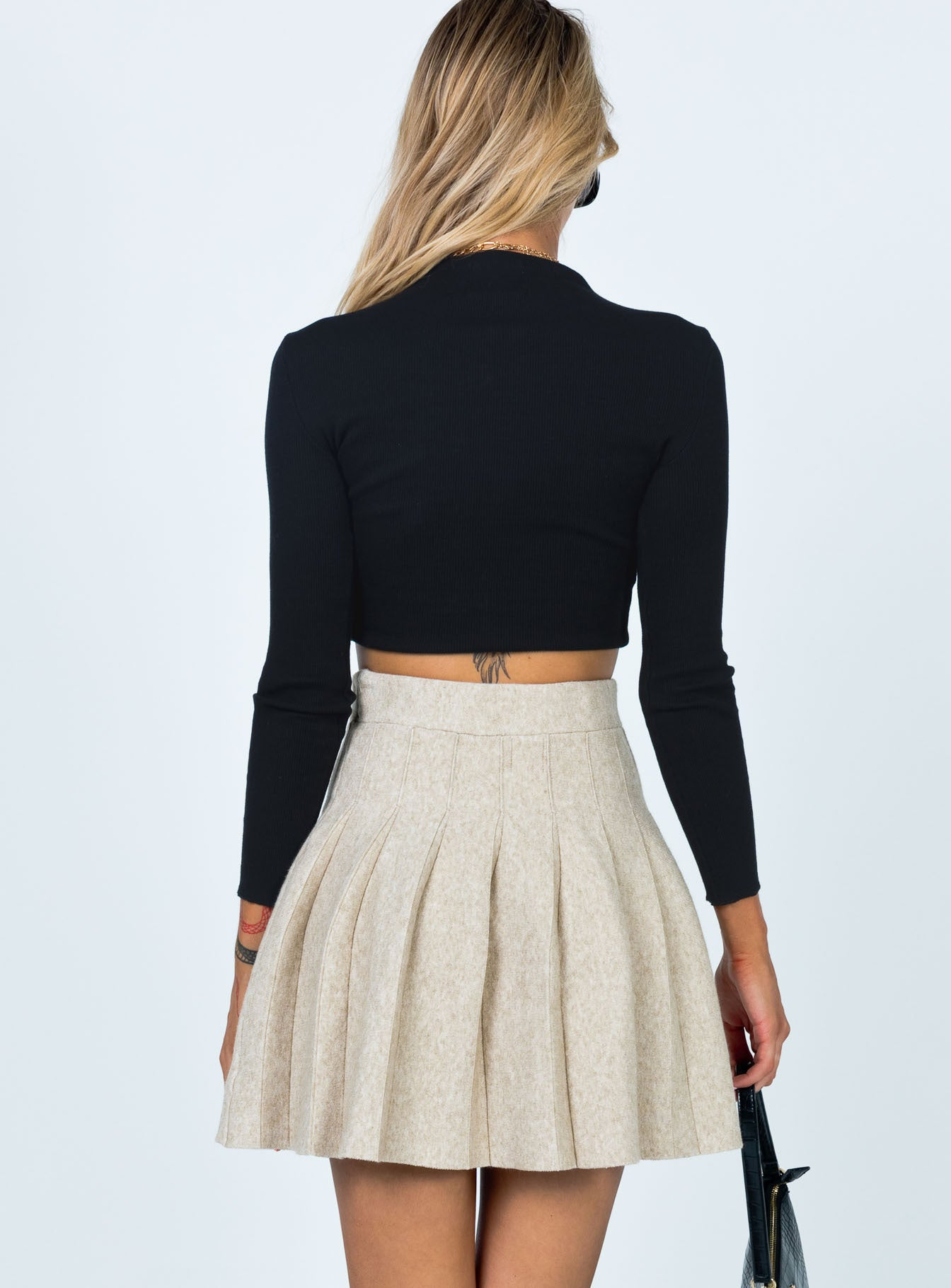 Linda Mini Skirt Beige
