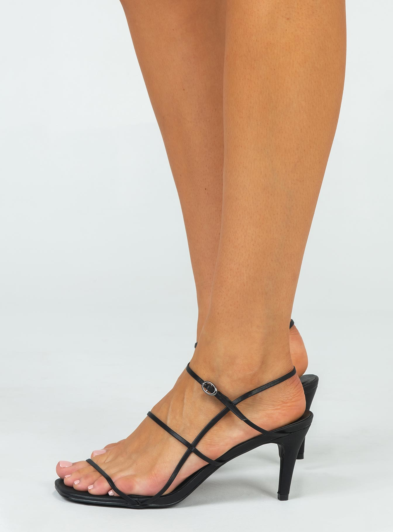 Therapy Flossy Heels Black