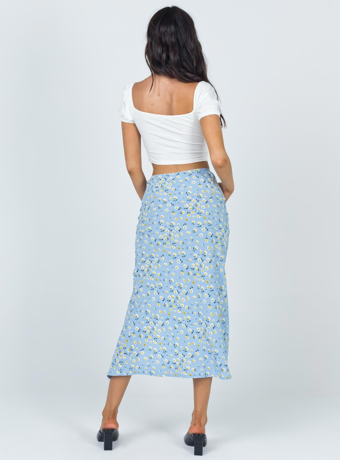 Tarsha Midi Skirt Blue