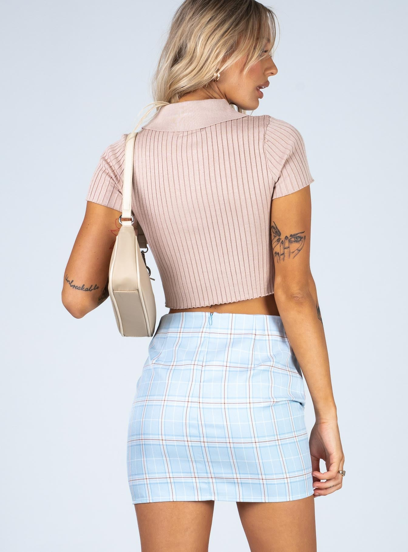 Coral Mini Skirt Blue