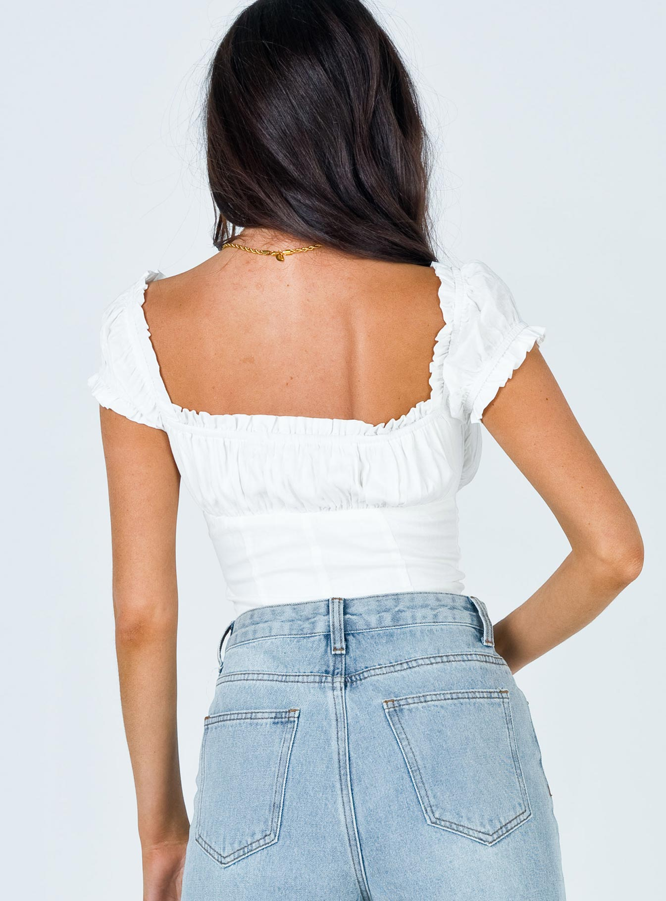 Elouise Crop Top White
