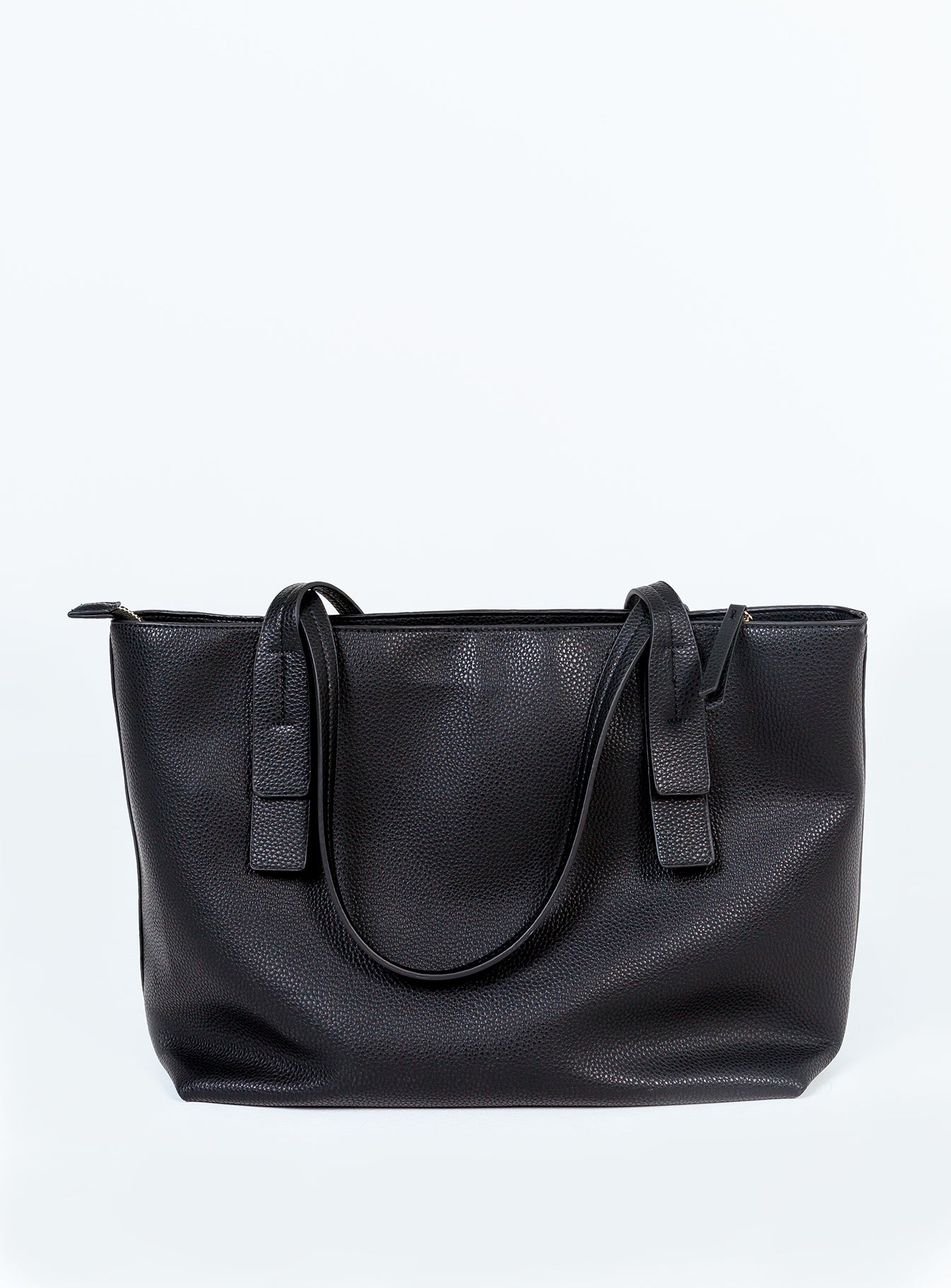 Peta & Jain Maxwell Black Pebble Zip Tote