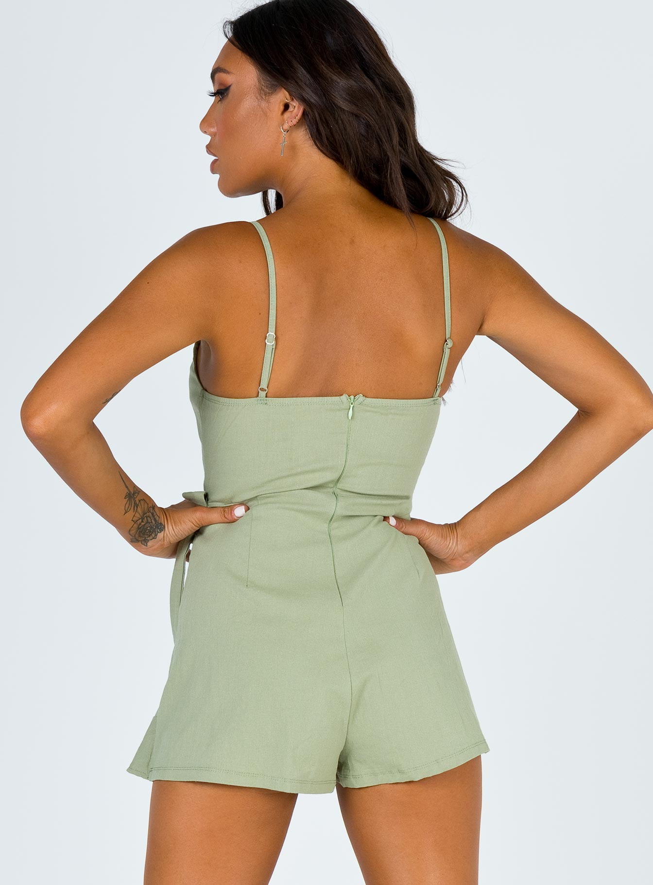 Estranged Playsuit Green