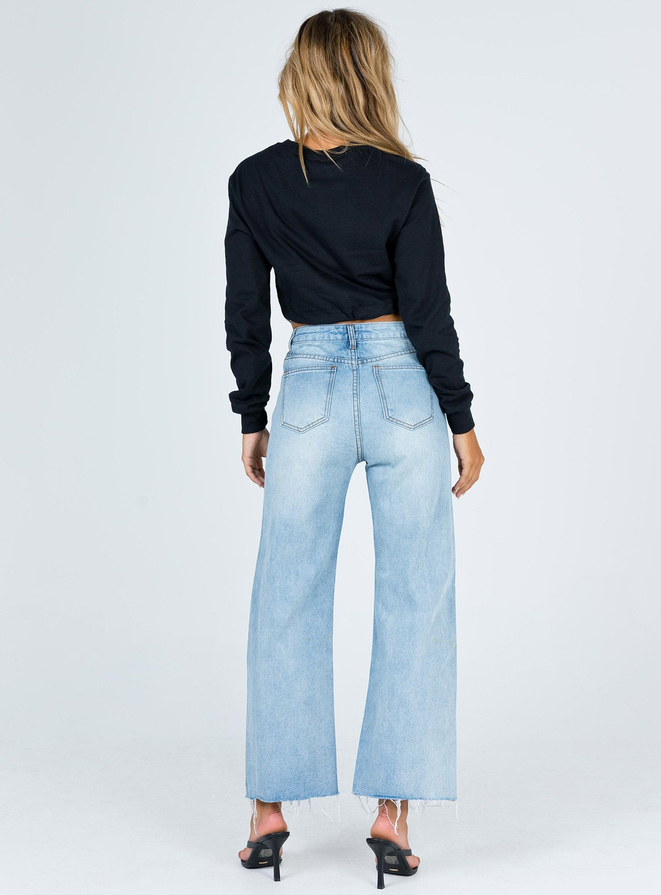 Houston Wide Leg Mid Wash Jean Denim