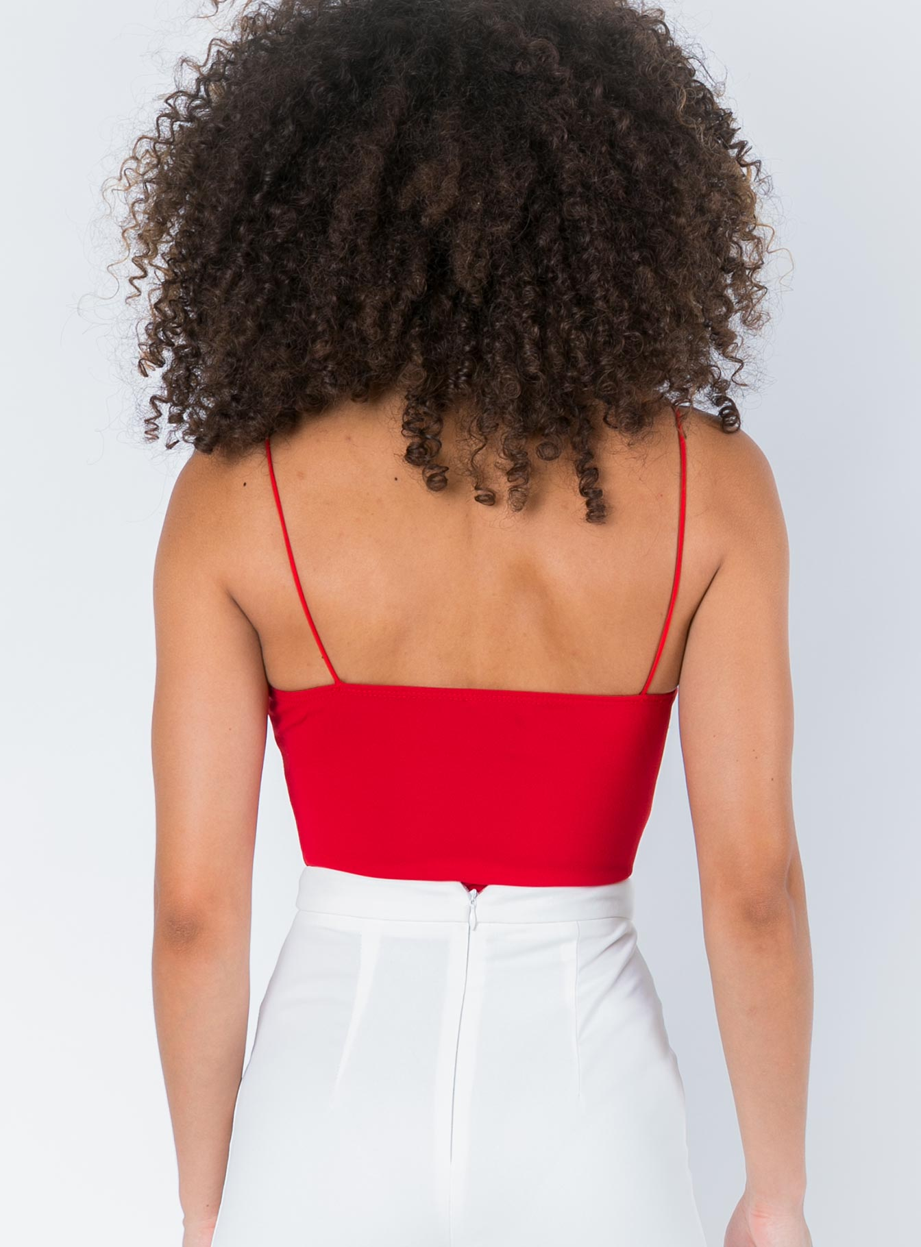 Evella Bodysuit Red