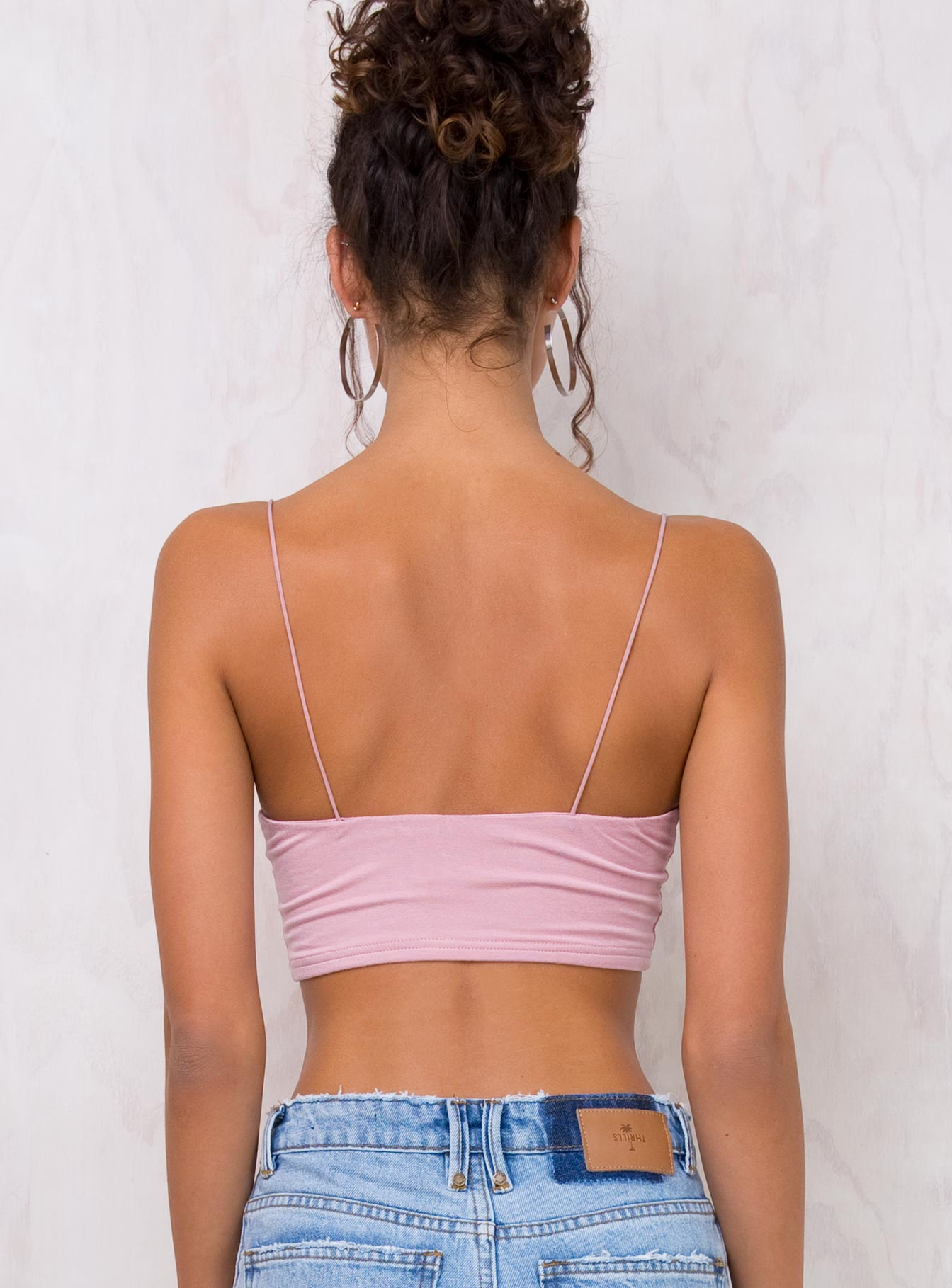 Fine China Crop Top Baby Pink