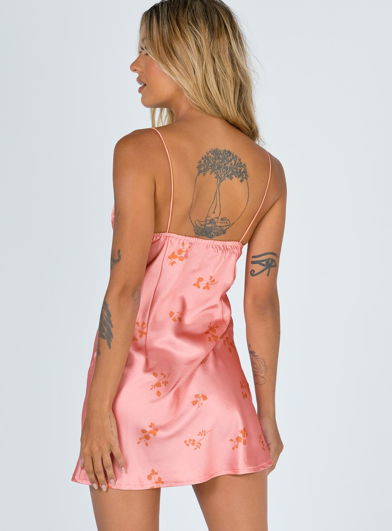 Stargazing Mini Dress Pink Floral