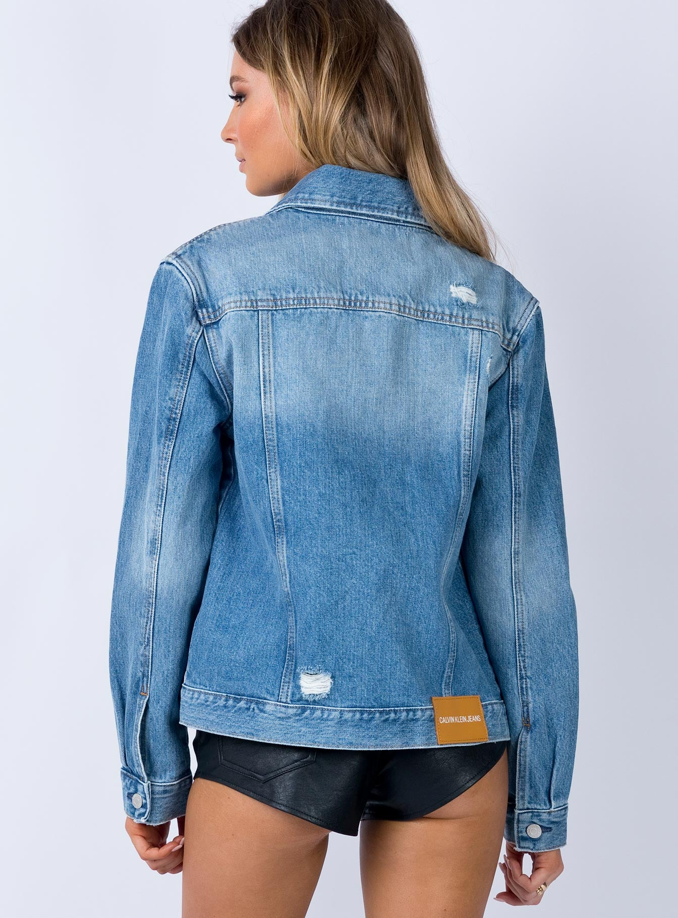 Calvin Klein Foundation Trucker Jacket Denim