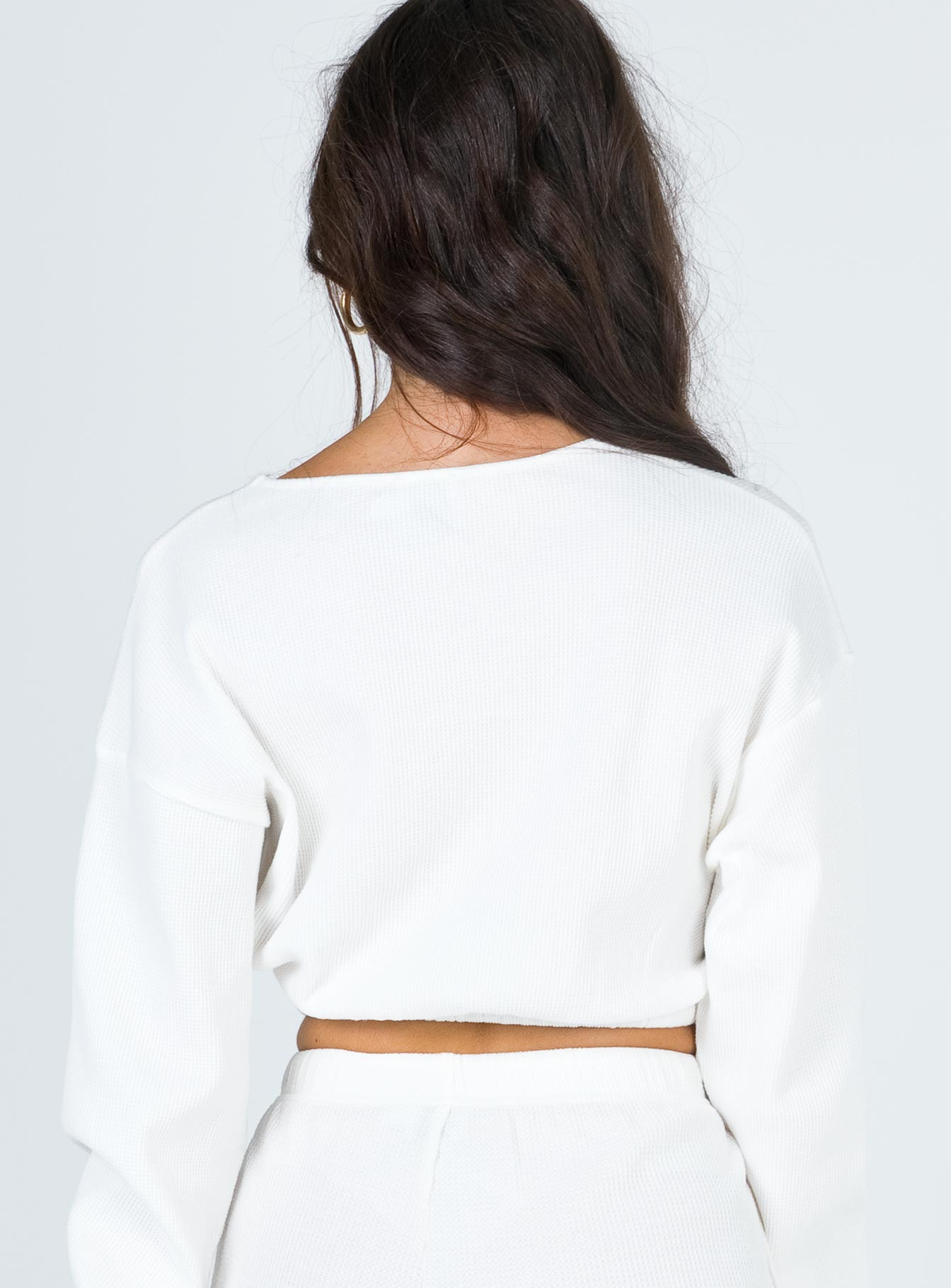 Milo Cropped Sweatshirt White