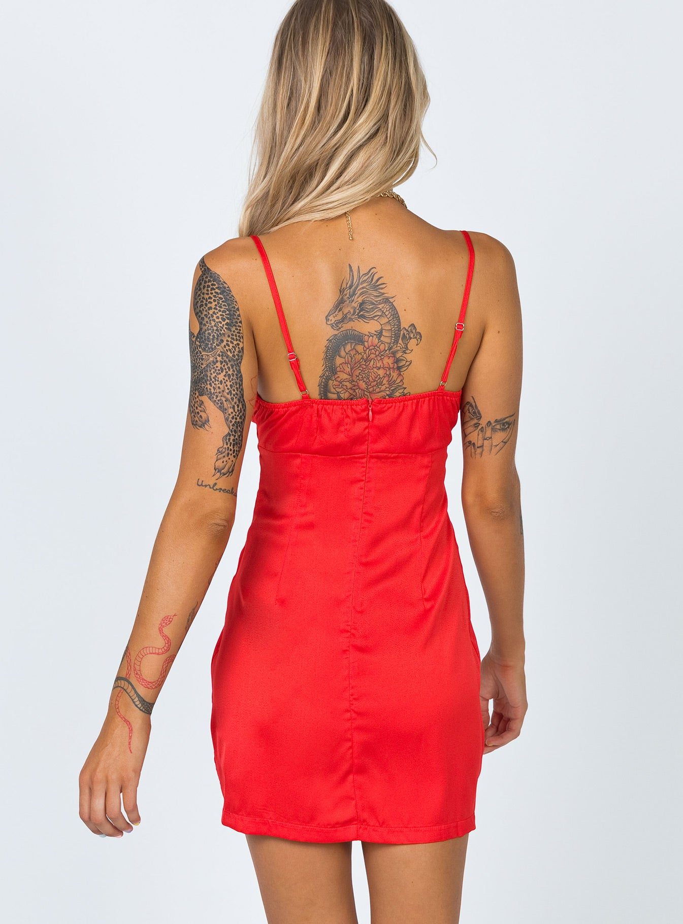 Maisi Mini Dress Red