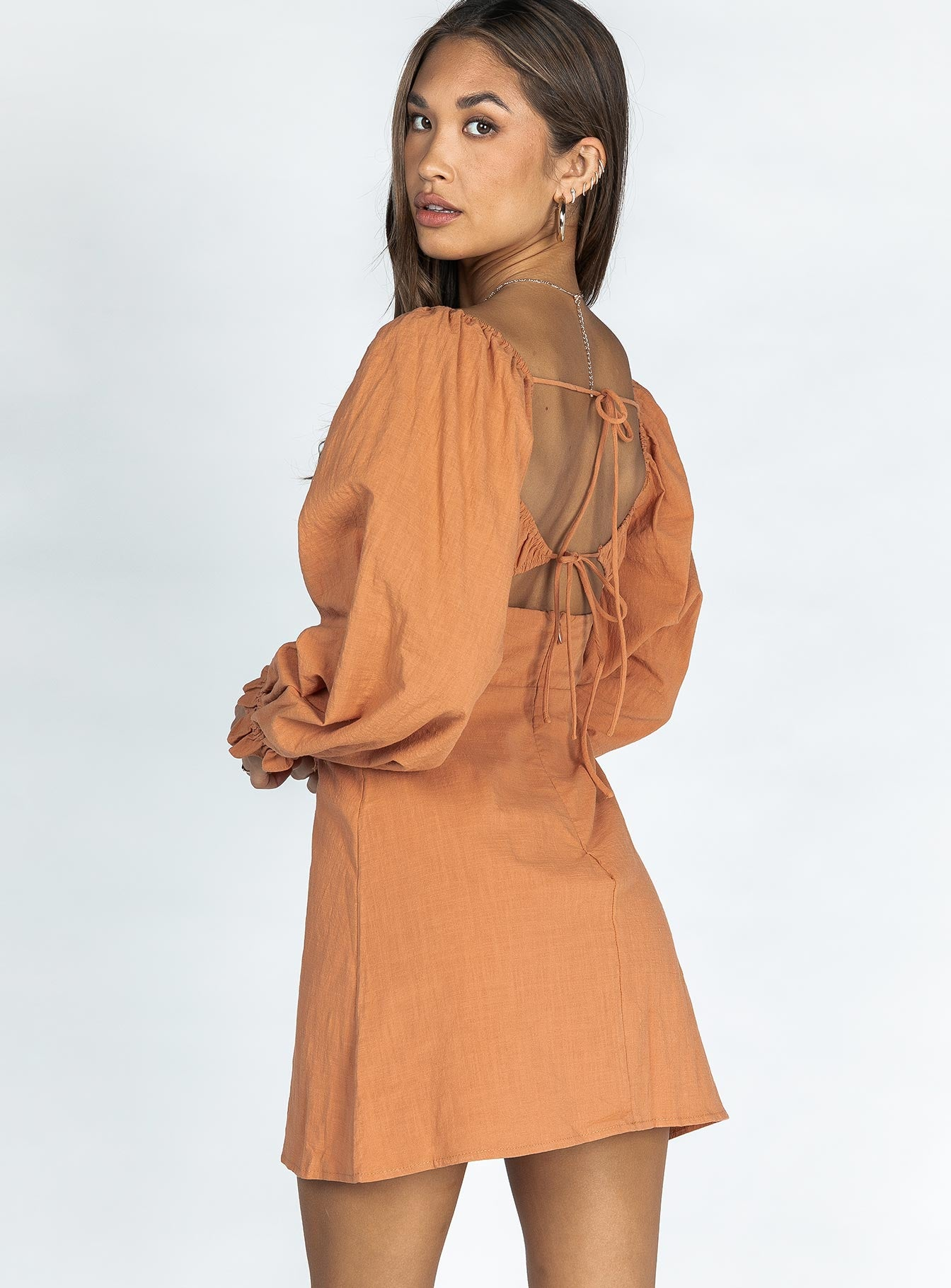 Orione Mini Dress Rust