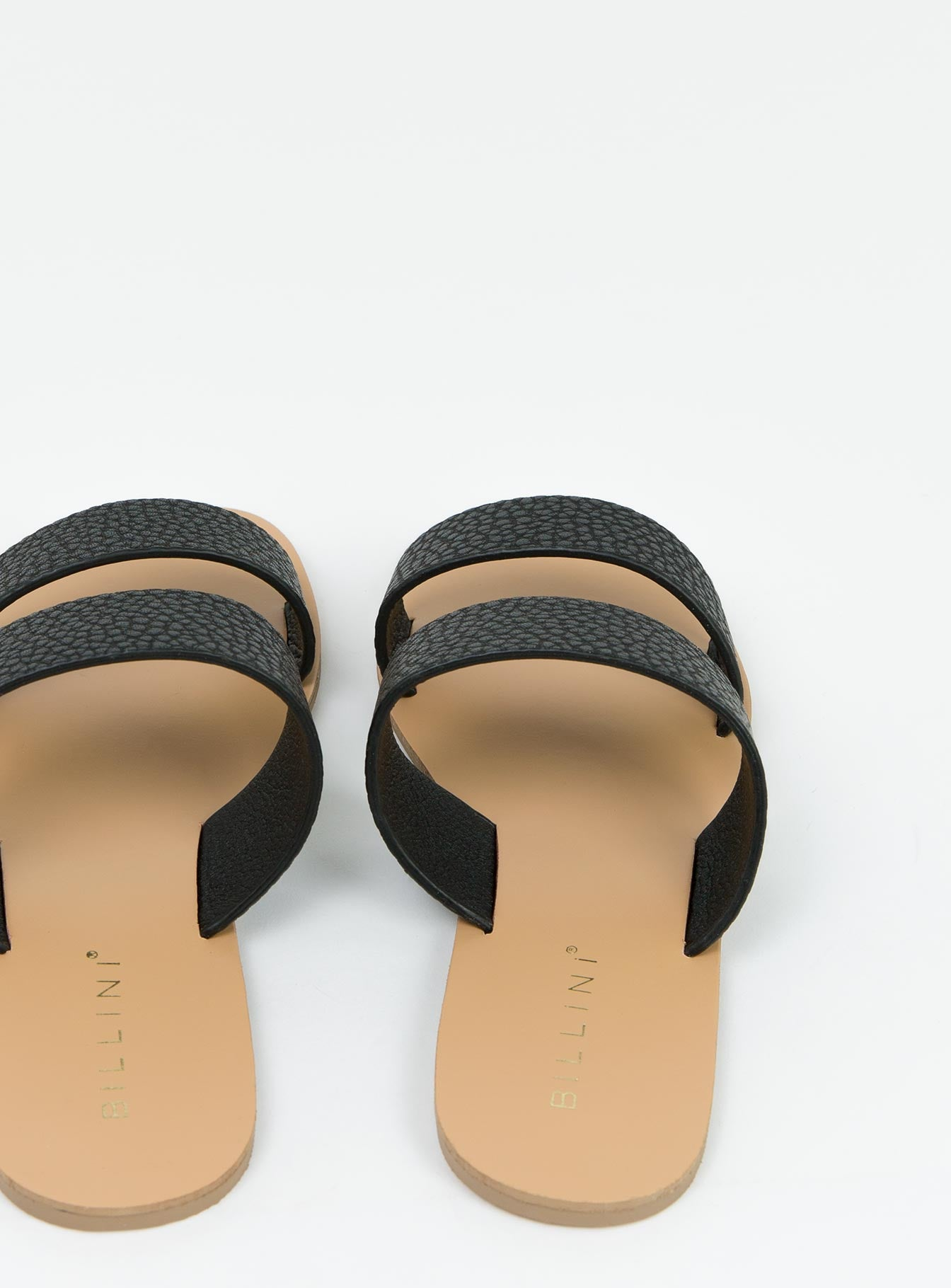 Billini Black Large Pebble Cuban Slides