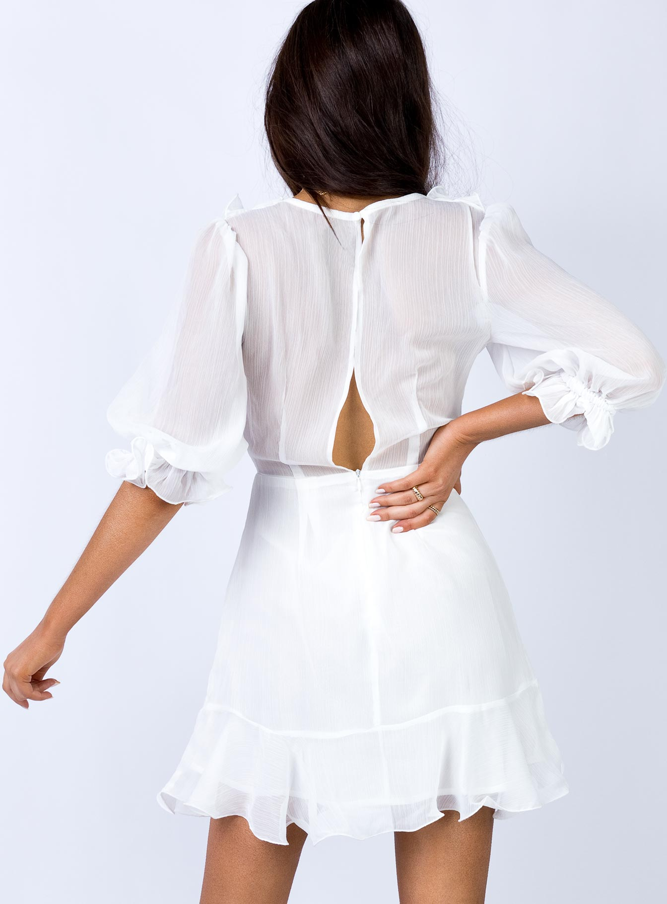 Mimi Mini Dress White