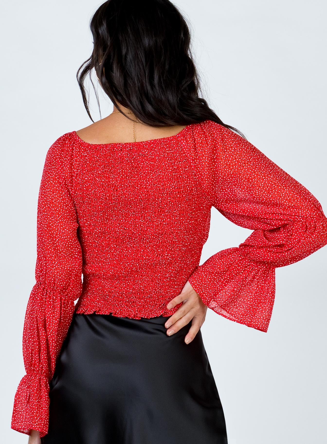 Briana Baby Top Red Print