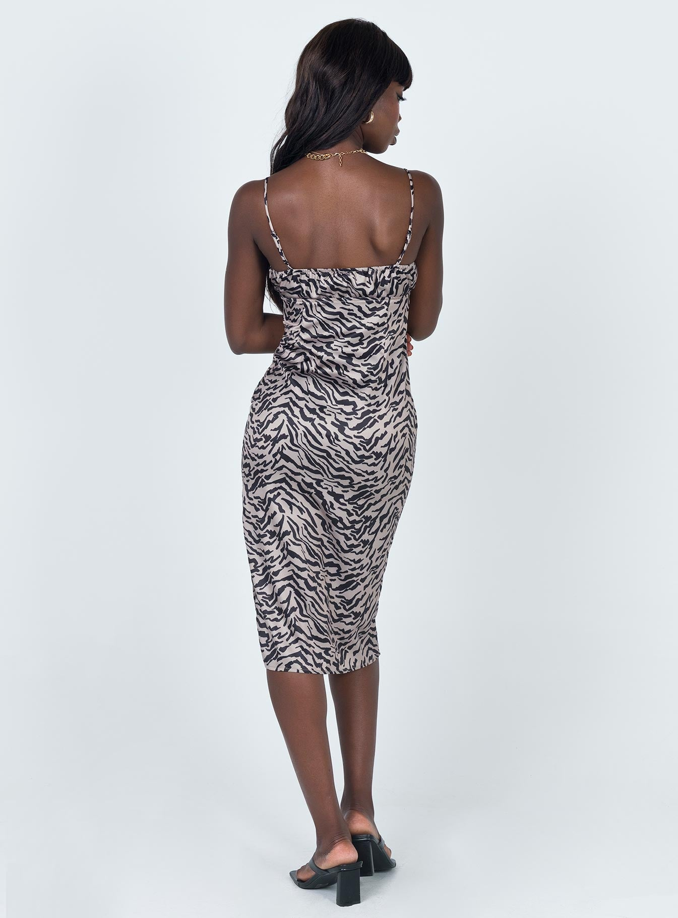 Georgina Midi Dress Tiger