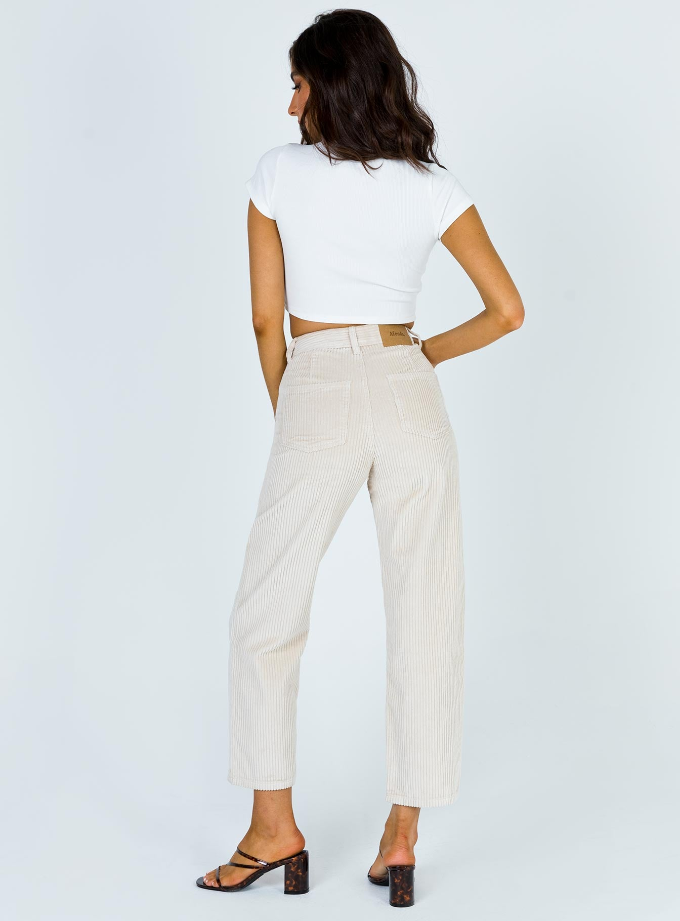 Afends Shelby Corduroy High Waist Wide Leg Jeans