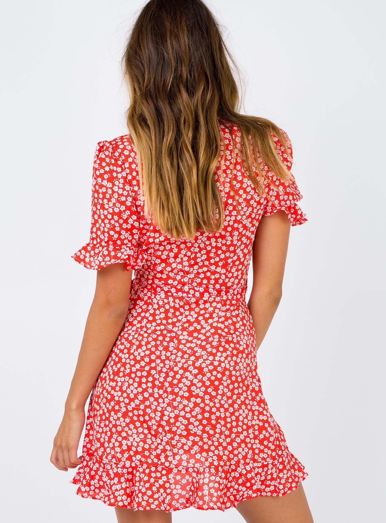 The Poppy Moore Mini Dress Red