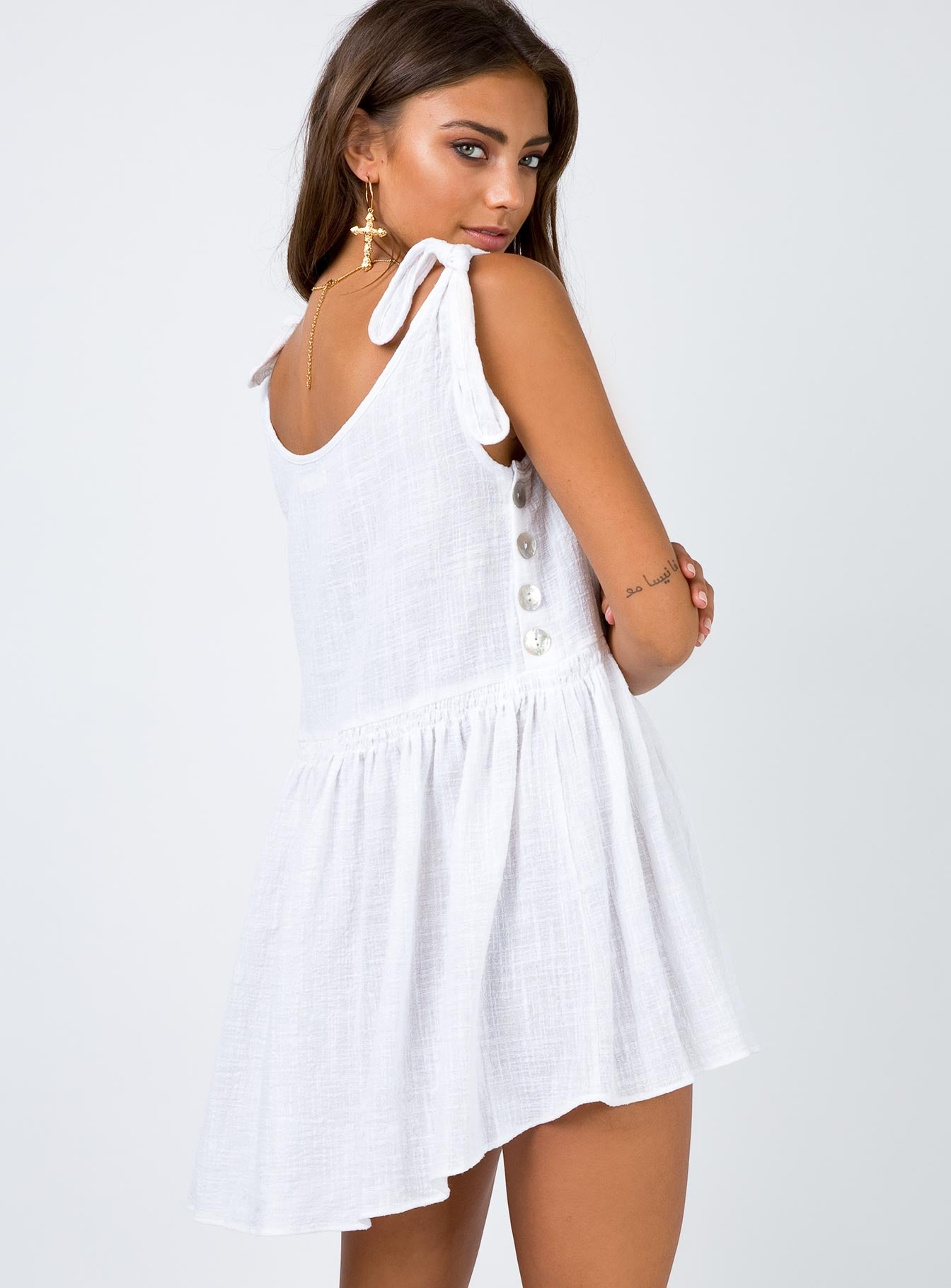 Juniper Mini Dress White
