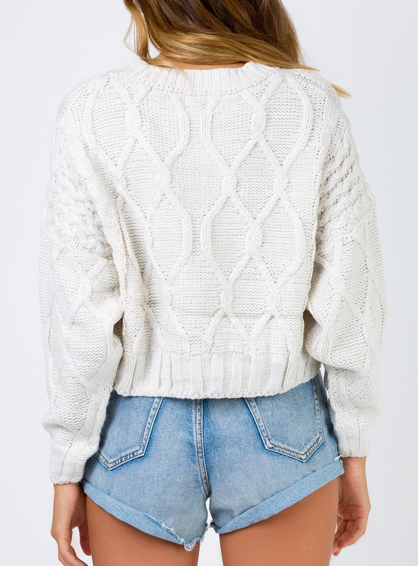 Autumn Leaves Jumper Off White