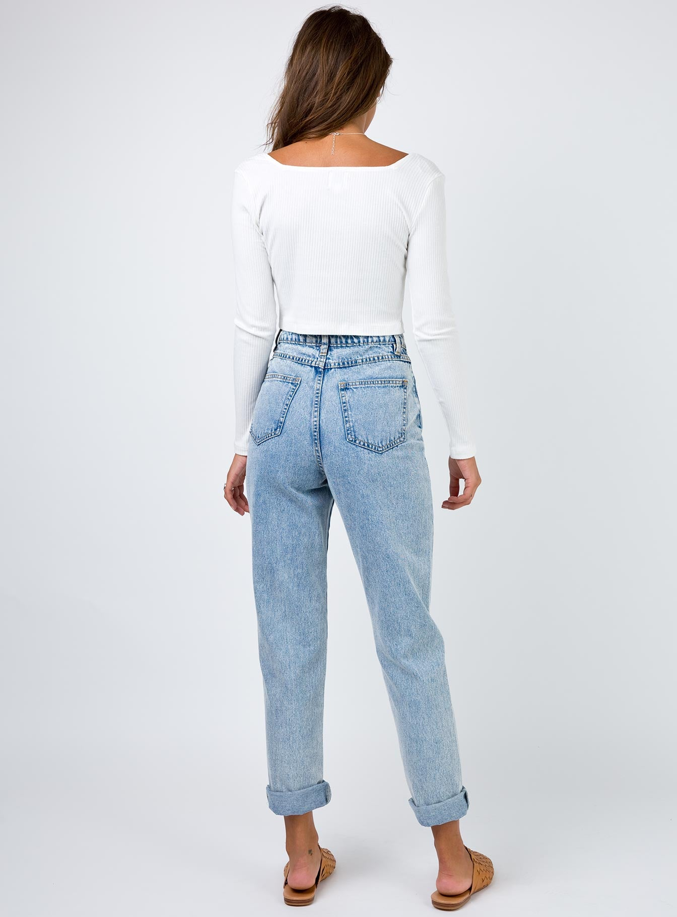 Minkpink Heathers Scando Jeans Acid Wash Blue