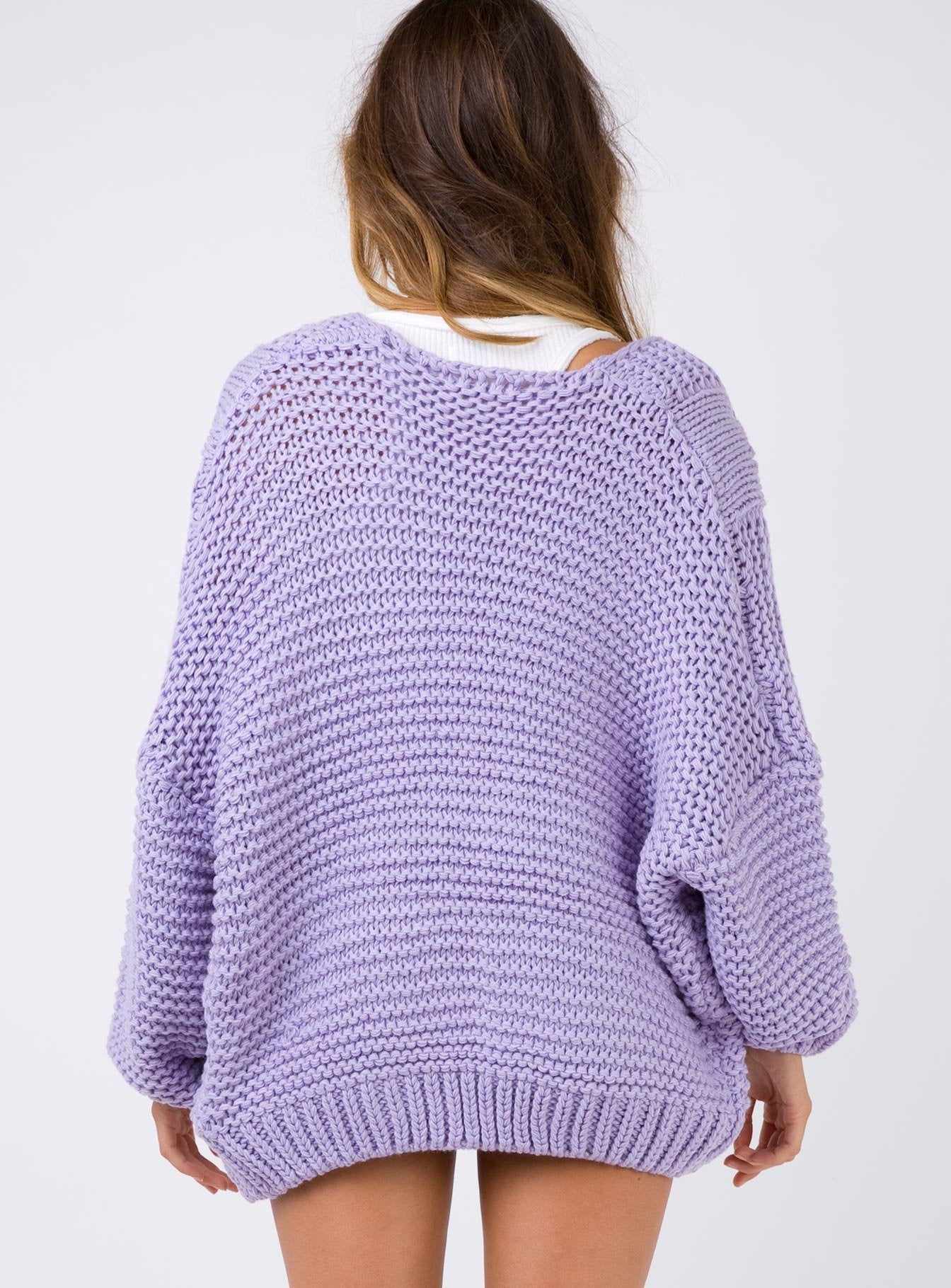 Melting Moment Knit Cardigan Lilac