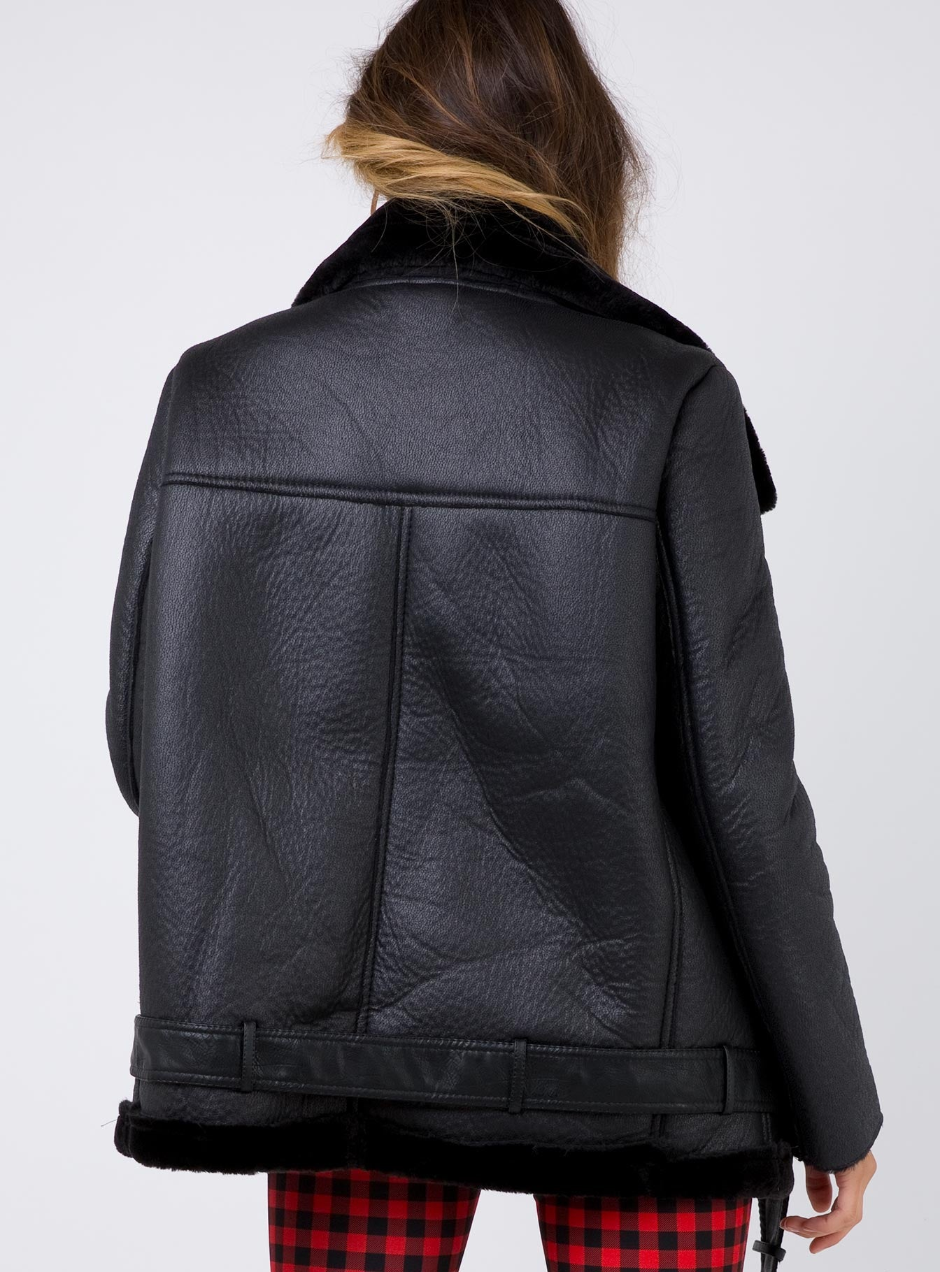 Smoke & Mirrors Leather Jacket Black